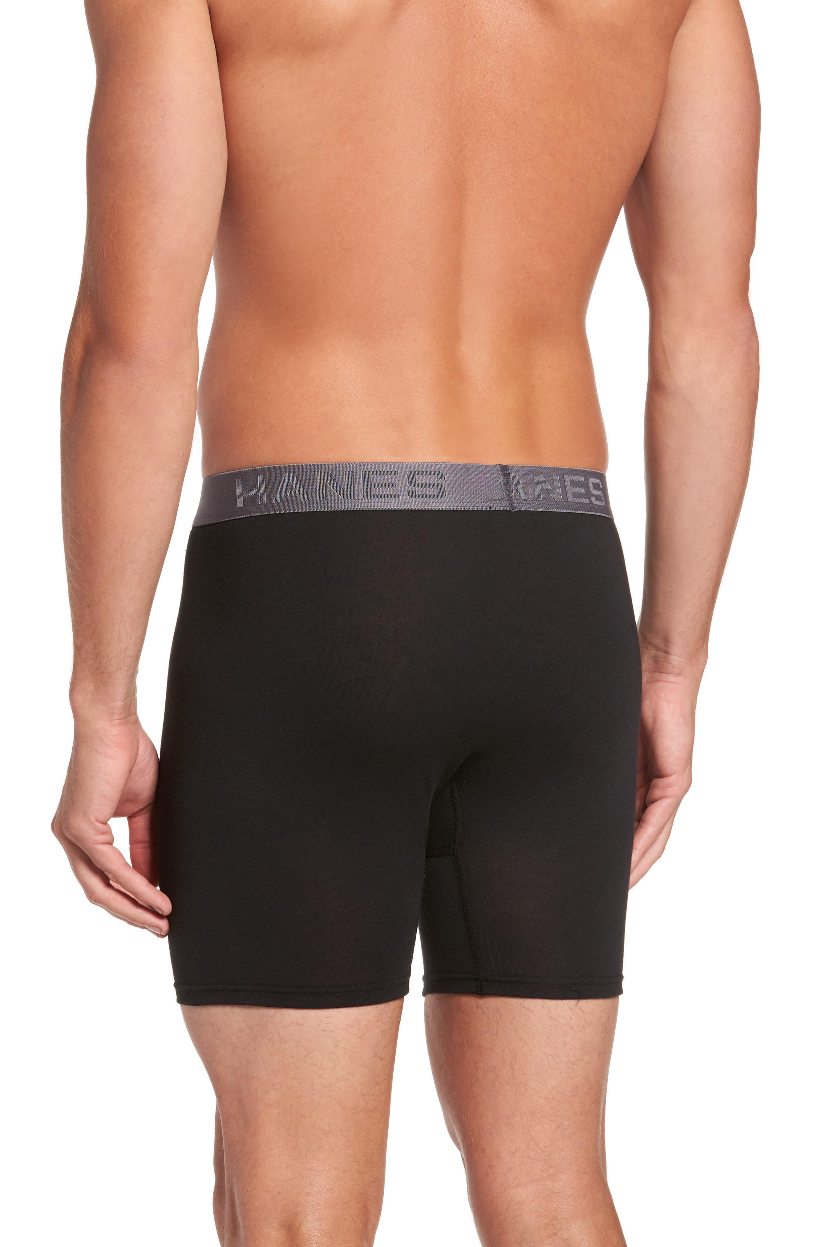 Alternate Image 3  - Hanes Luxury Essentials 3-Pack Boxer Briefs