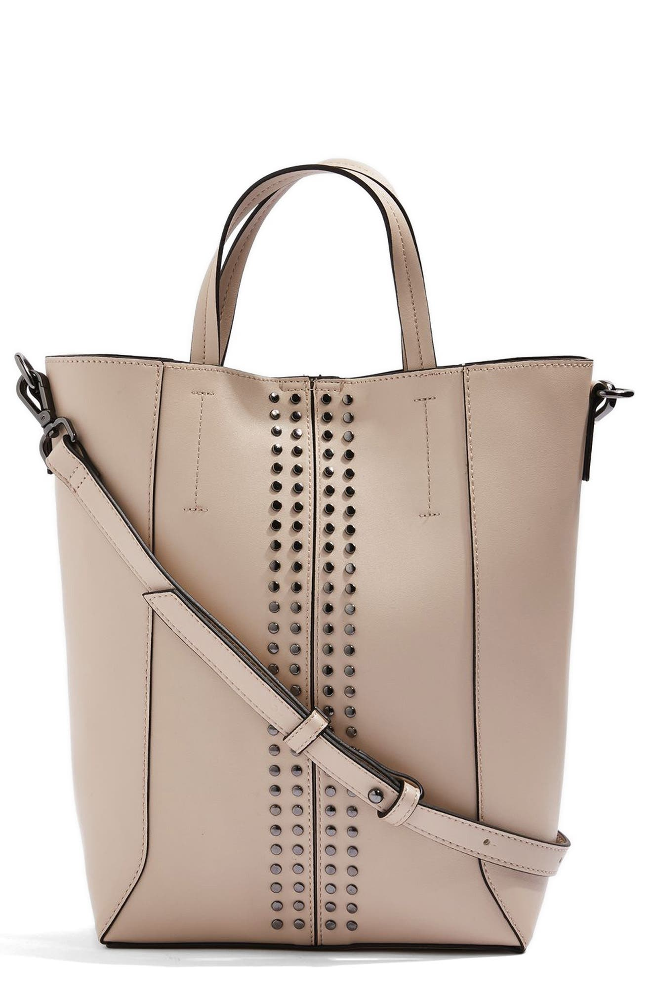 Alternate Image 1 Selected - Topshop Sarah Studded Mini Tote Bag