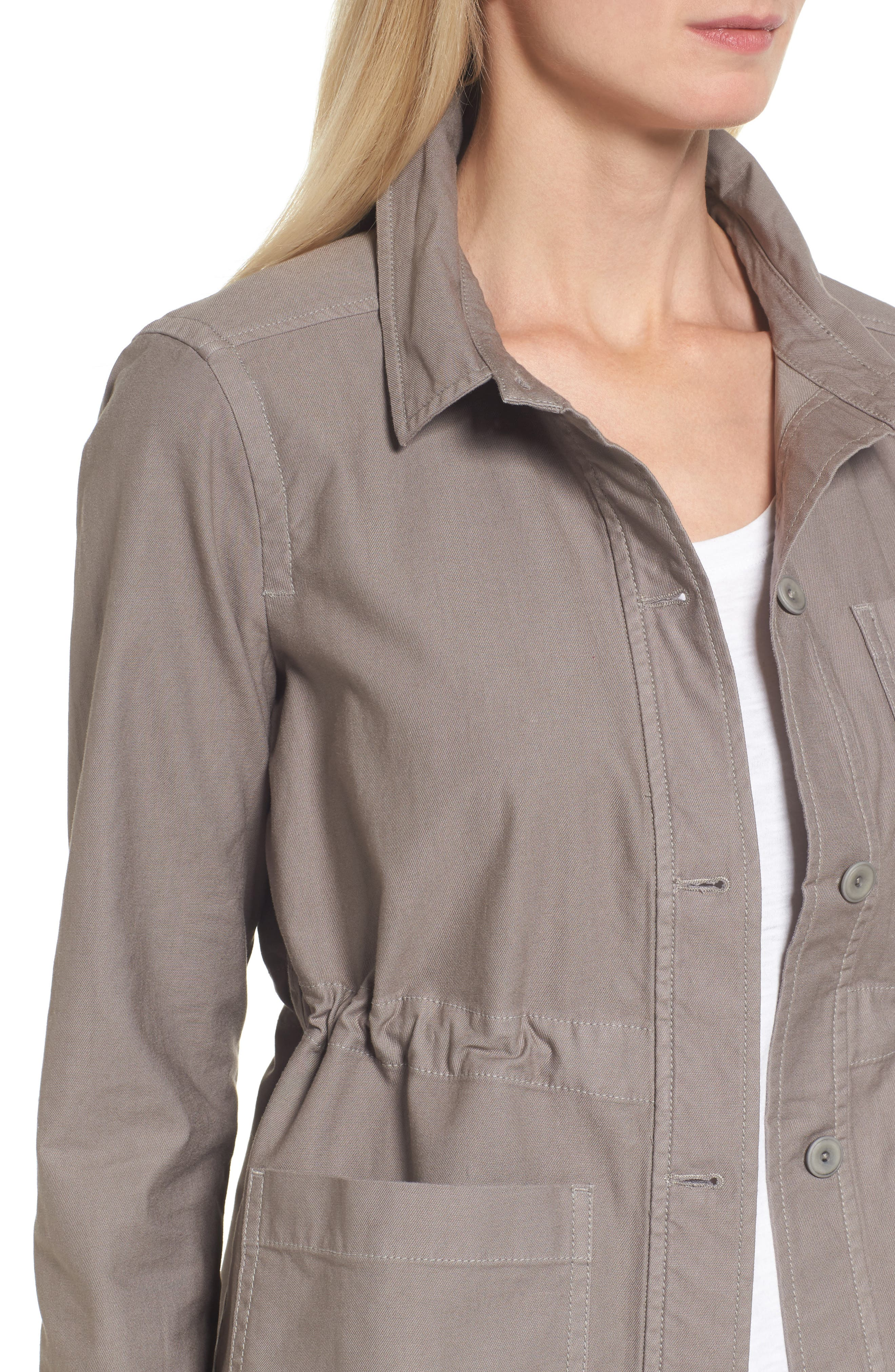 Alternate Image 4  - Eileen Fisher Twill Utility Jacket