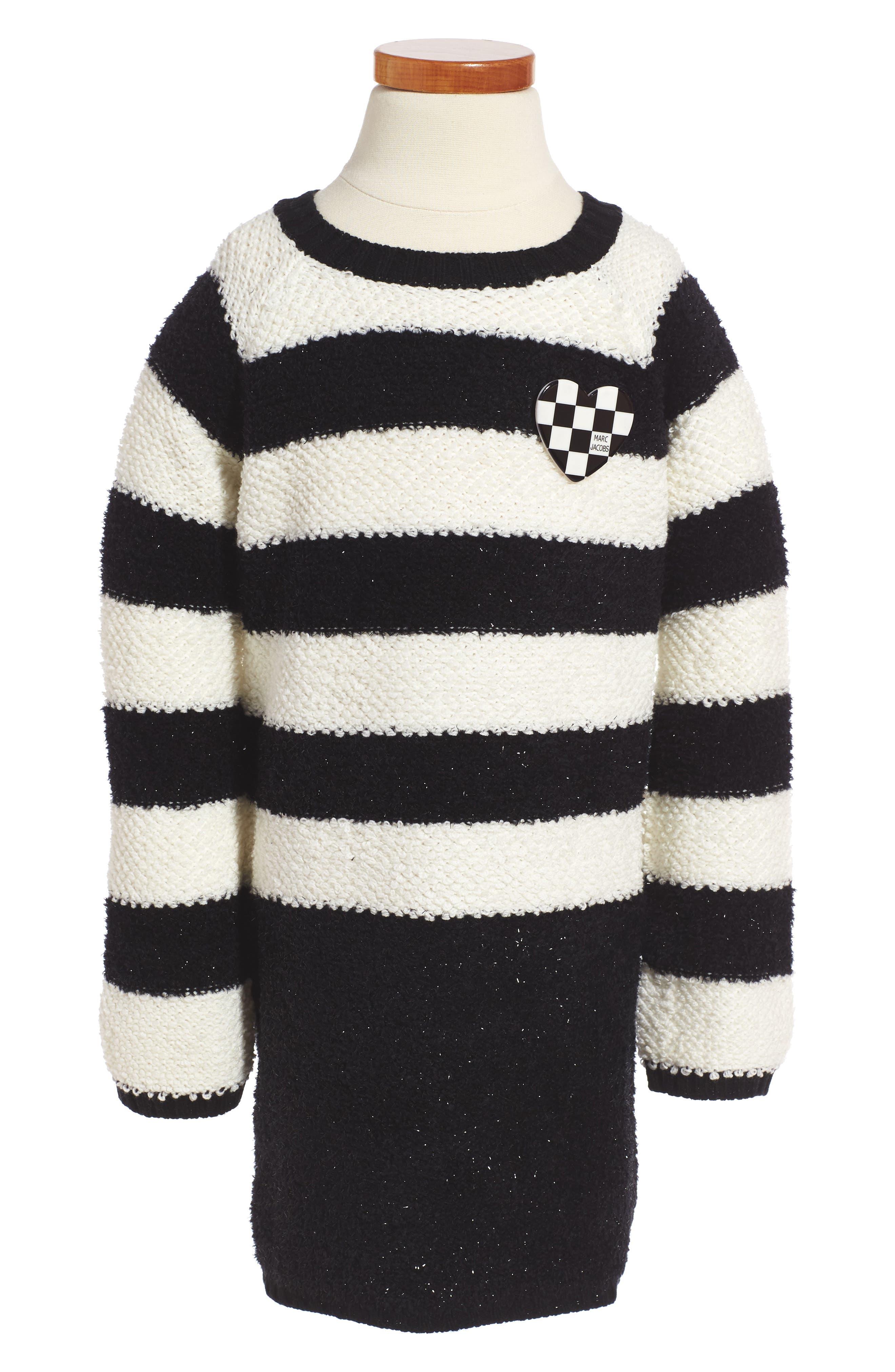 LITTLE MARC JACOBS Stripe Sweater Dress (Toddler Girls, Little Girls & Big Girls)
