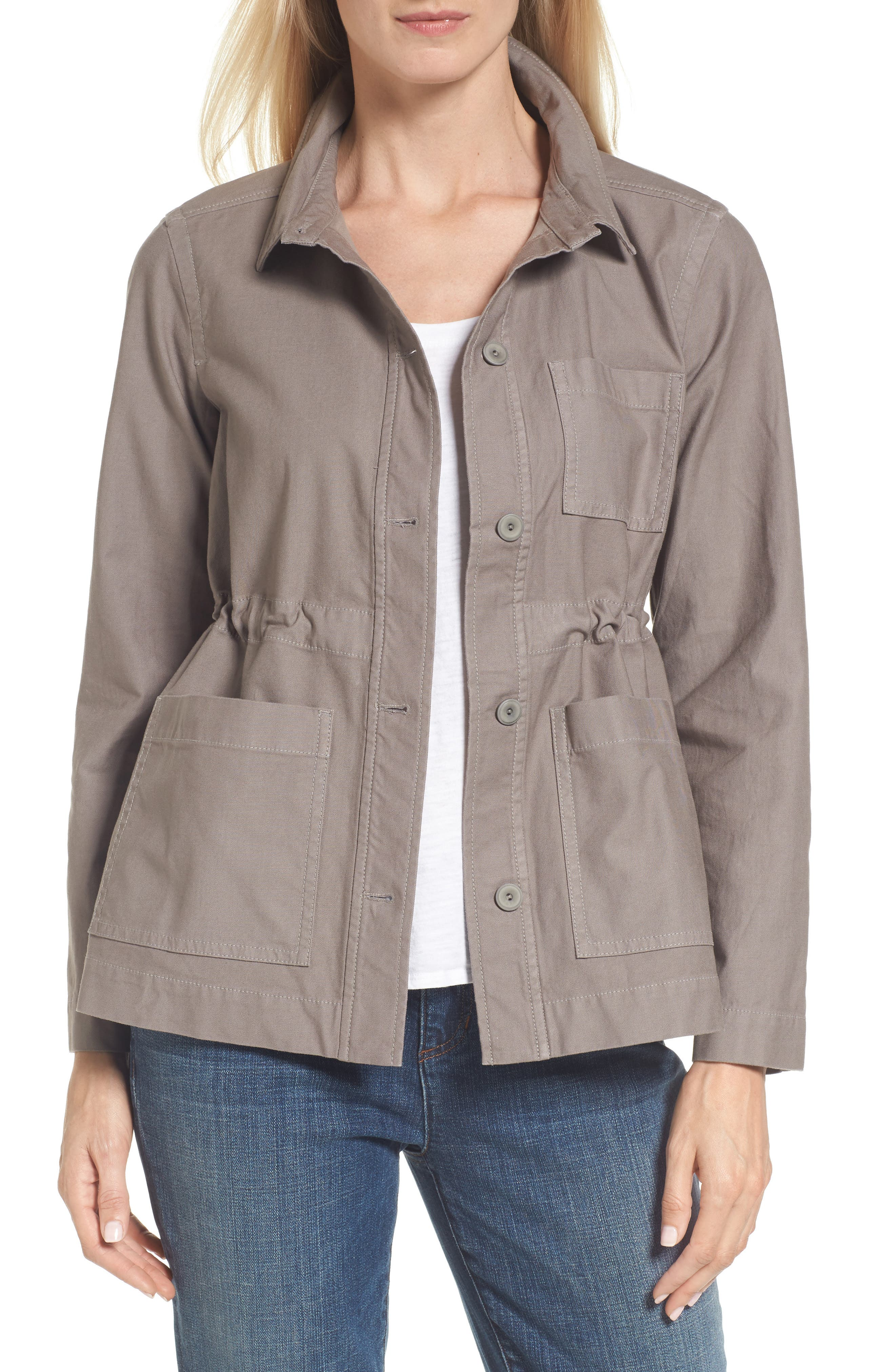 Alternate Image 1 Selected - Eileen Fisher Twill Utility Jacket