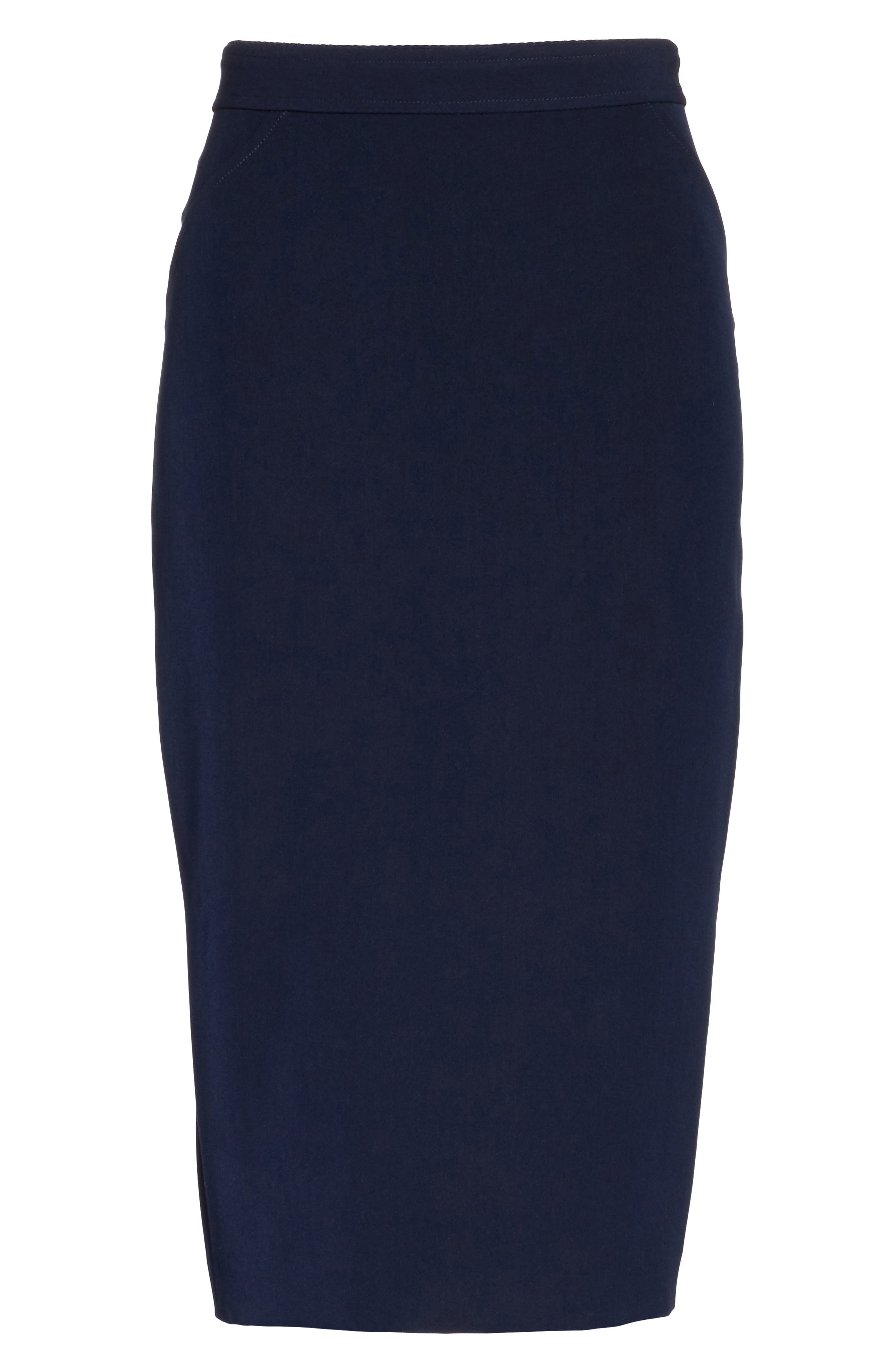 Alternate Image 6  - St. John Collection Bella Double Weave Pencil Skirt