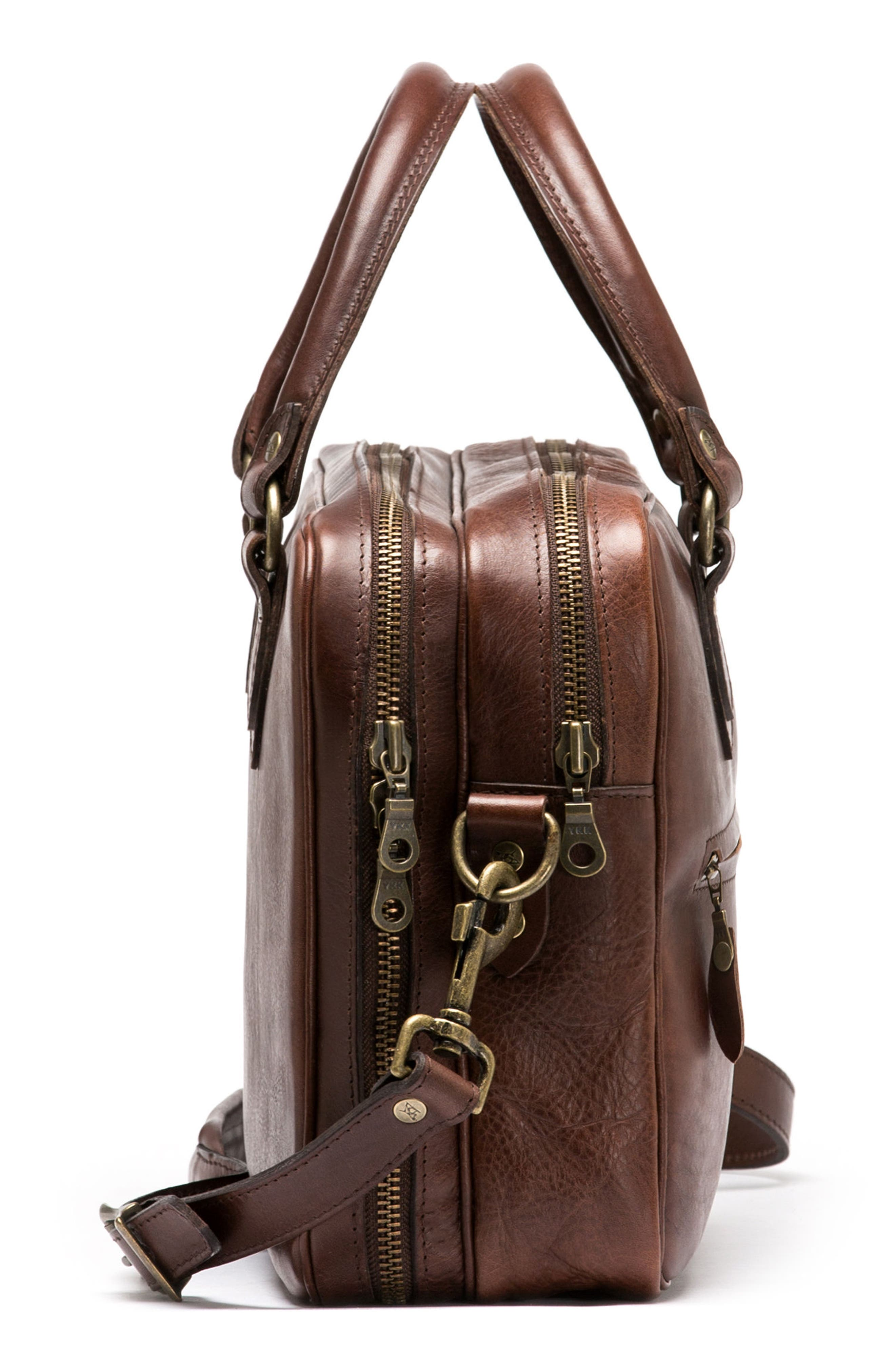 Britomart Leather Briefcase,                             Alternate thumbnail 7, color,                             Mud