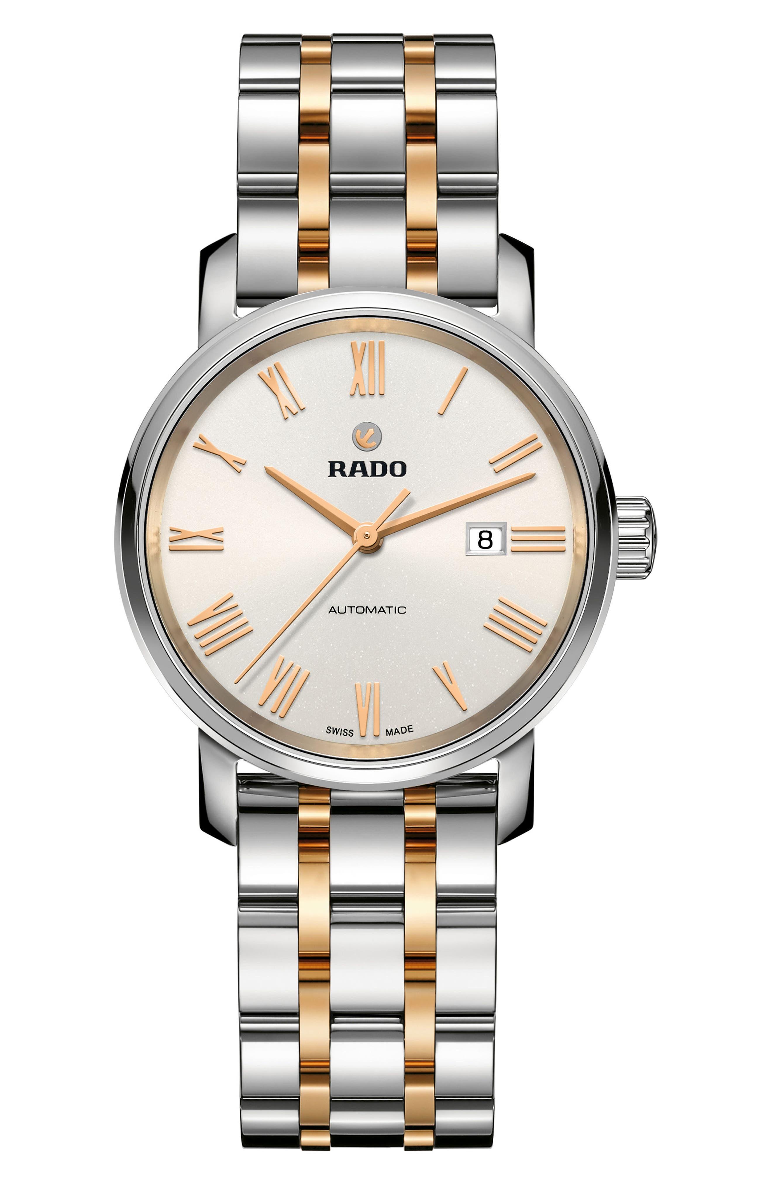 Alternate Image 1 Selected - RADO DiaMaster Automatic Bracelet Watch, 33mm