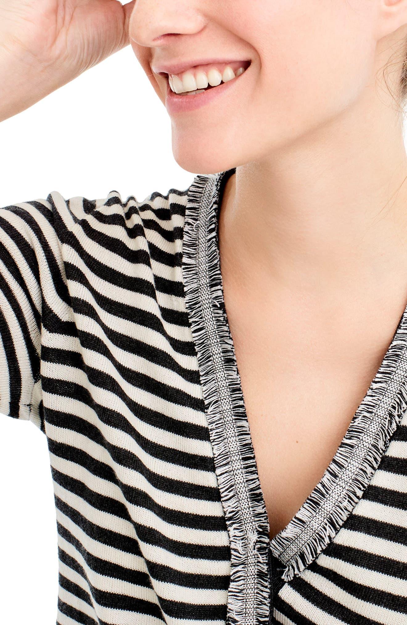 Alternate Image 2  - J.Crew Stripe Harlow Cardigan Sweater