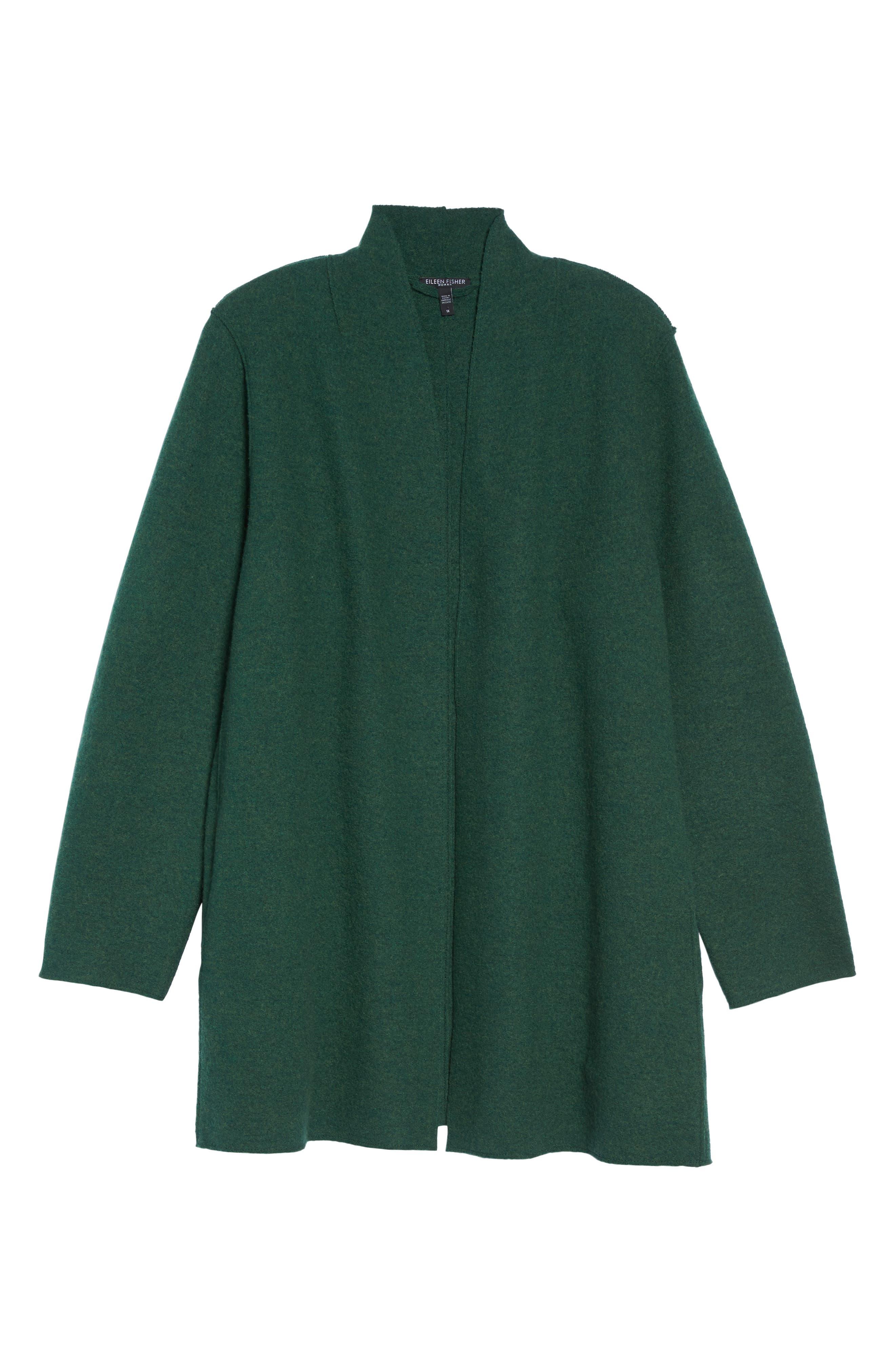 Alternate Image 6  - Eileen Fisher Boiled Wool Jacket (Plus Size)