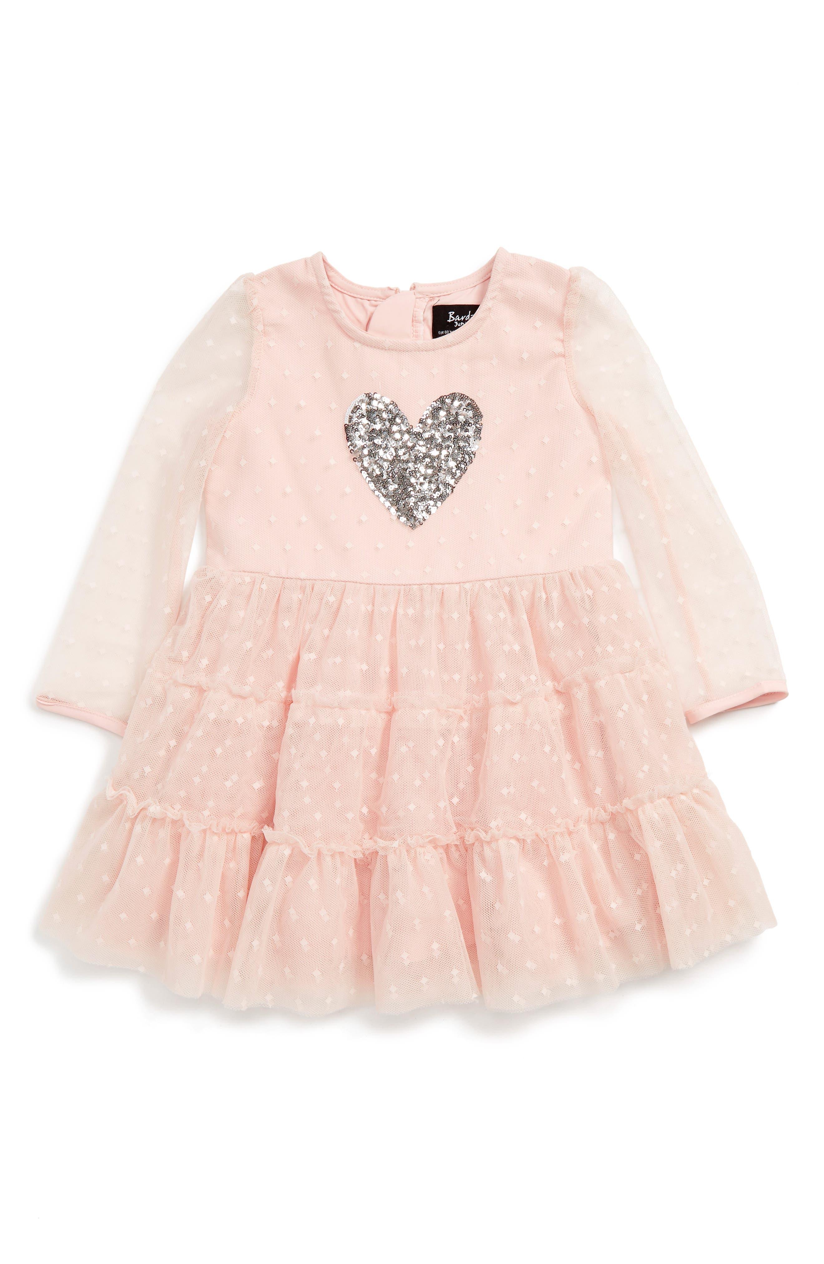 Bardot Junior Sequin Heart Dress (Baby Girls & Toddler Girls)