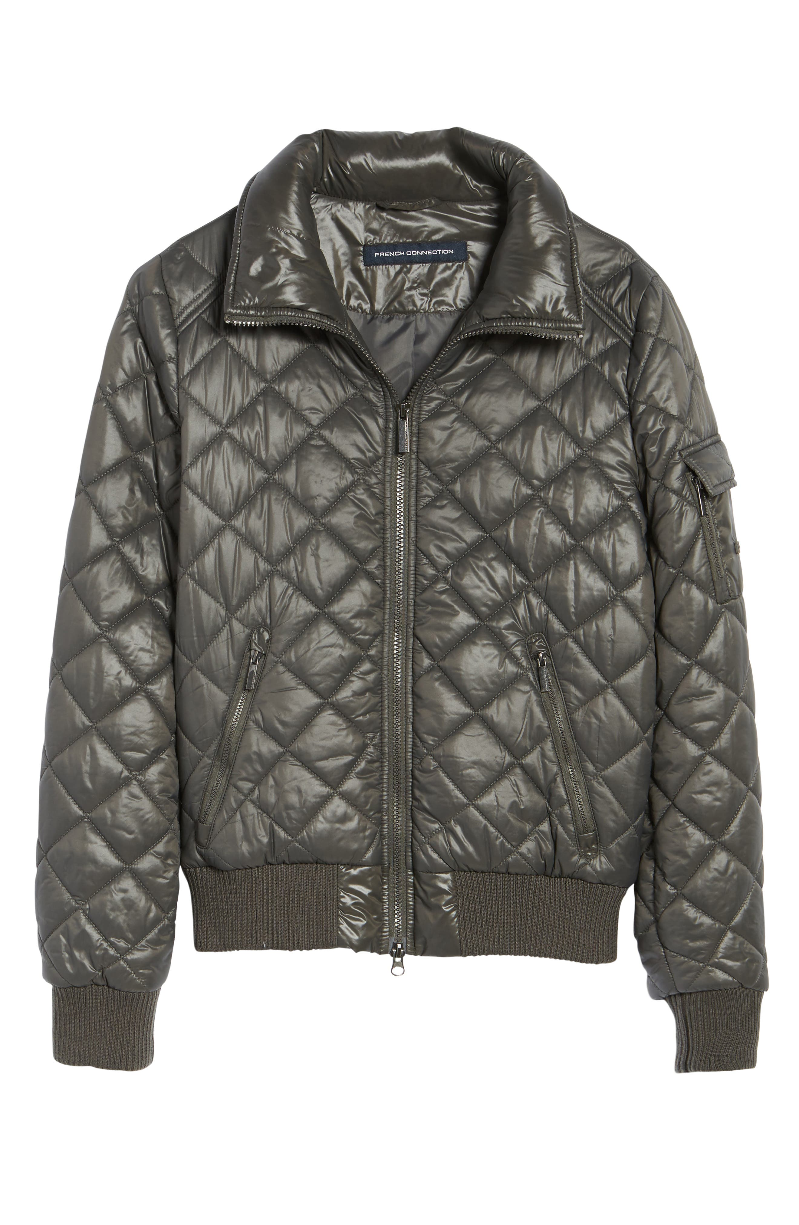 Alternate Image 7  - French Connection Quilted Bomber Jacket