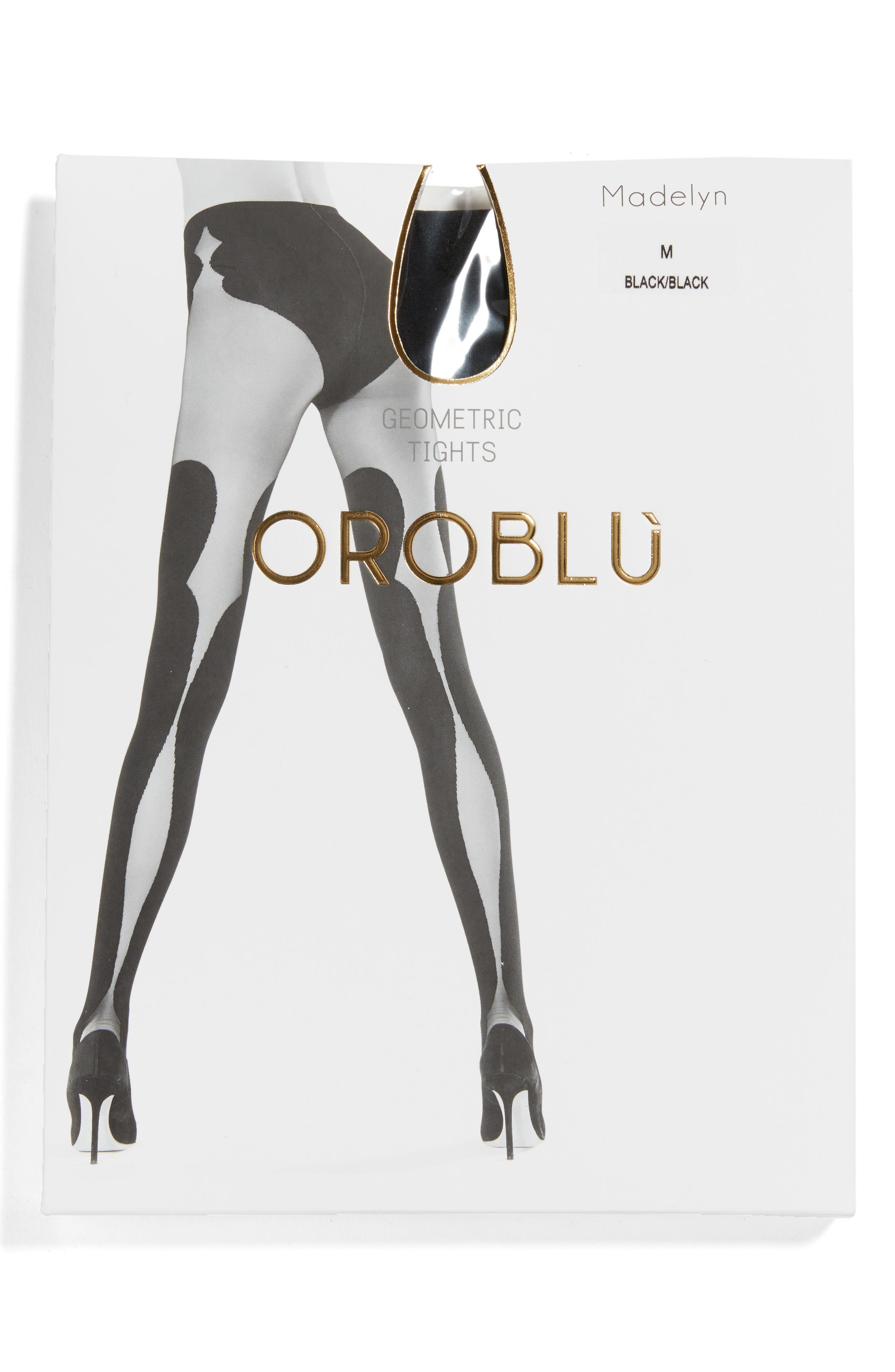 Madelyn Tights,                             Alternate thumbnail 3, color,                             Black/ Black