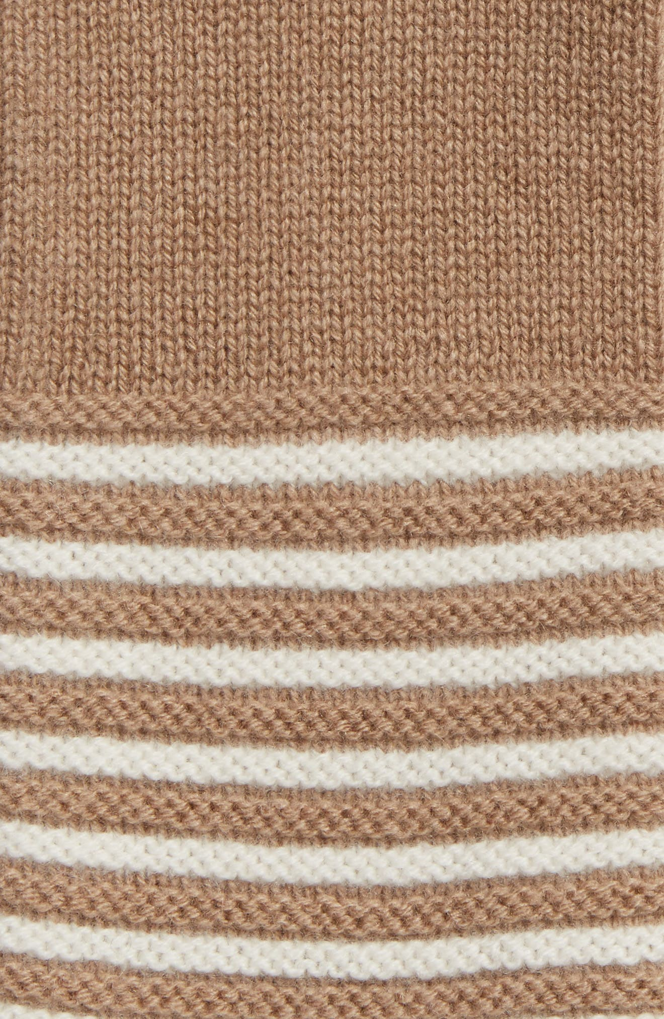 Double Links Wool & Cashmere Gloves,                             Alternate thumbnail 2, color,                             Dark Camel/ Cream