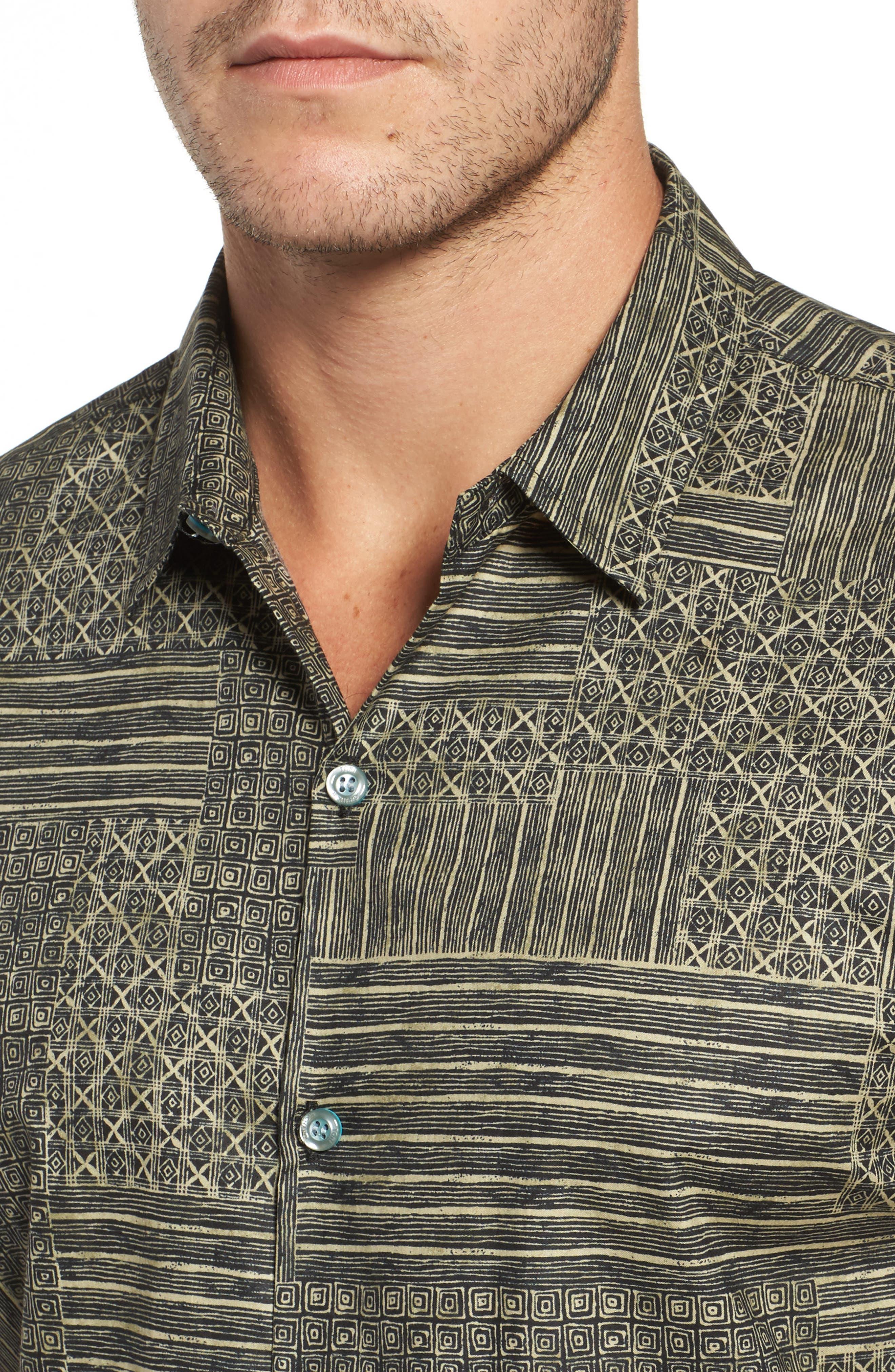 Alternate Image 4  - Tori Richard Spring Field Trim Fit Print Sport Shirt