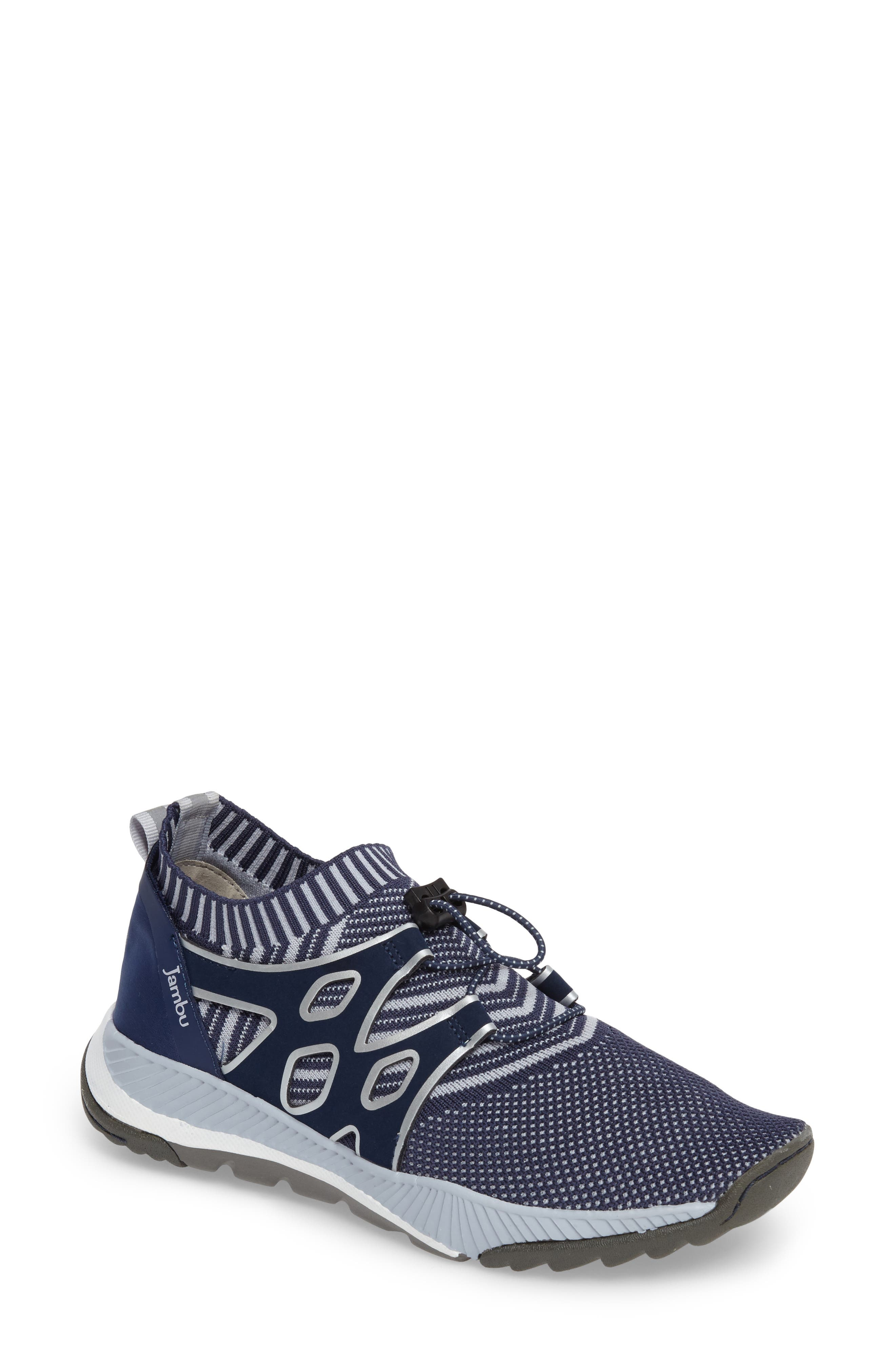 Jackie Sneaker,                             Main thumbnail 1, color,                             Navy Fabric