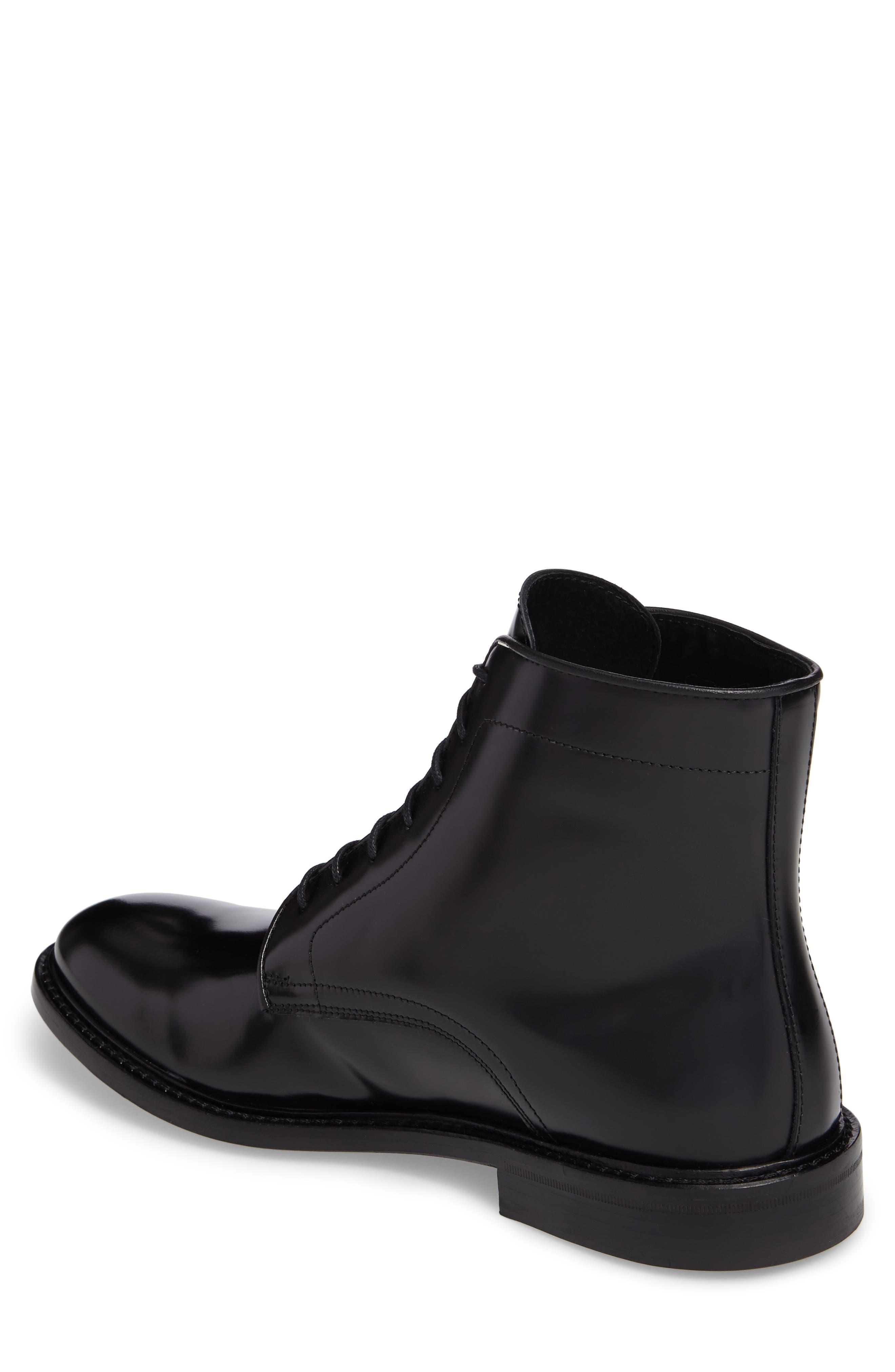 Plain Toe Boot,                             Alternate thumbnail 2, color,                             Black Leather
