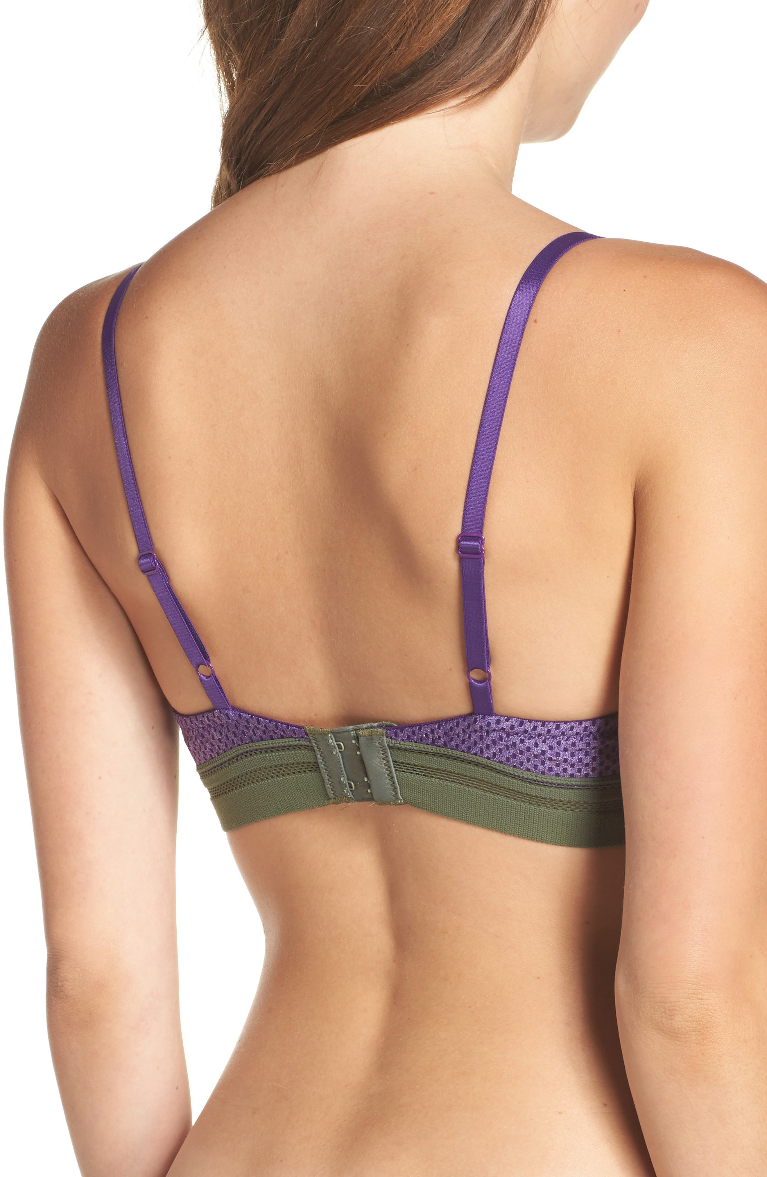 Spectator Seamless Underwire T-Shirt Bra,                             Alternate thumbnail 2, color,                             Acai