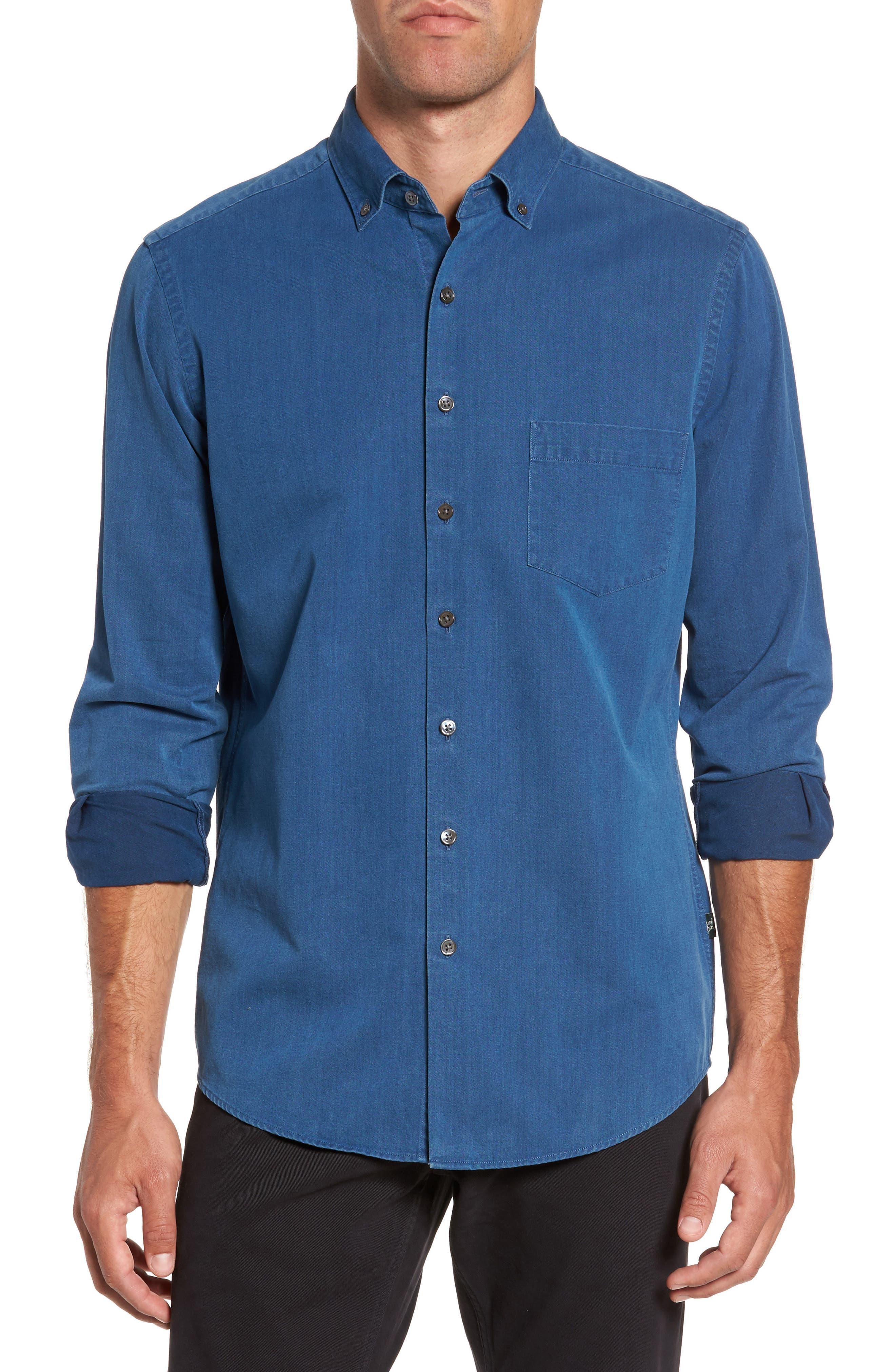 Bayswater Sports Fit Sport Shirt,                         Main,                         color, Indigo