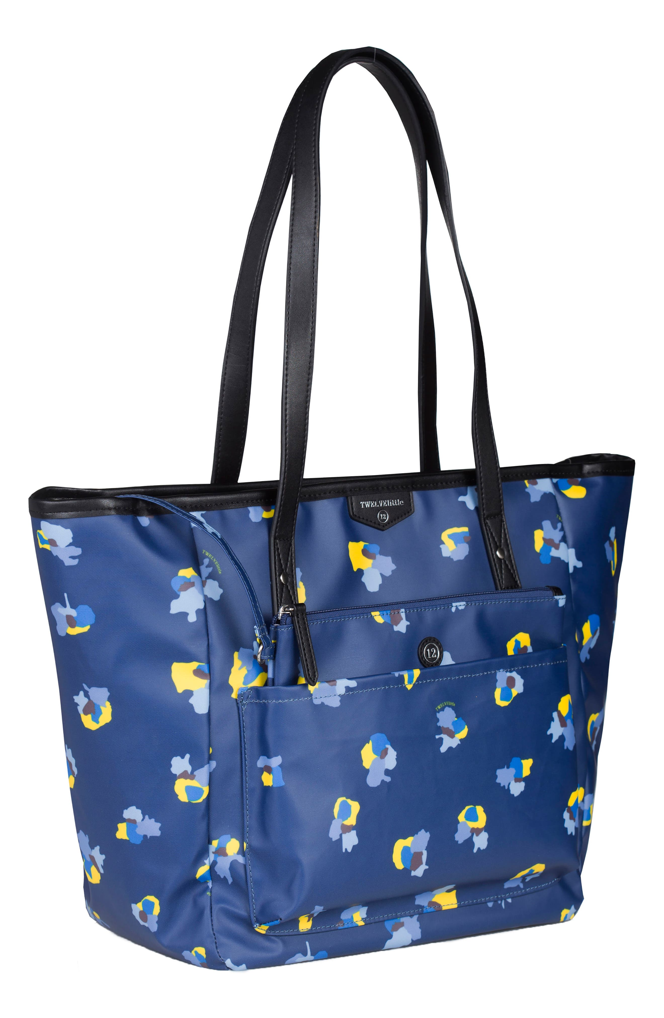 Everyday Diaper Tote Plus,                             Alternate thumbnail 3, color,                             Navy Floral Print