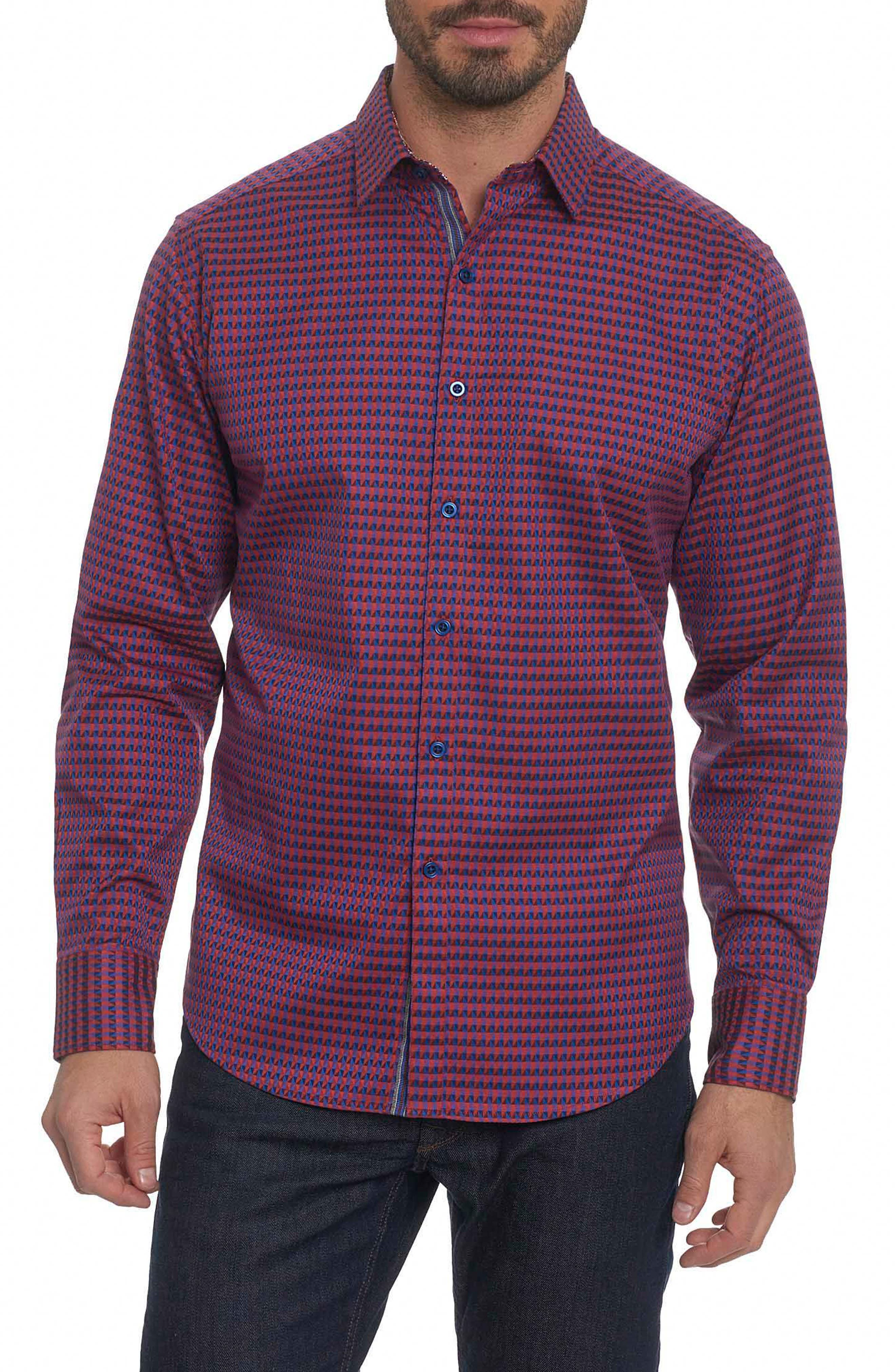 Orwell Classic Fit Print Sport Shirt,                         Main,                         color, Red