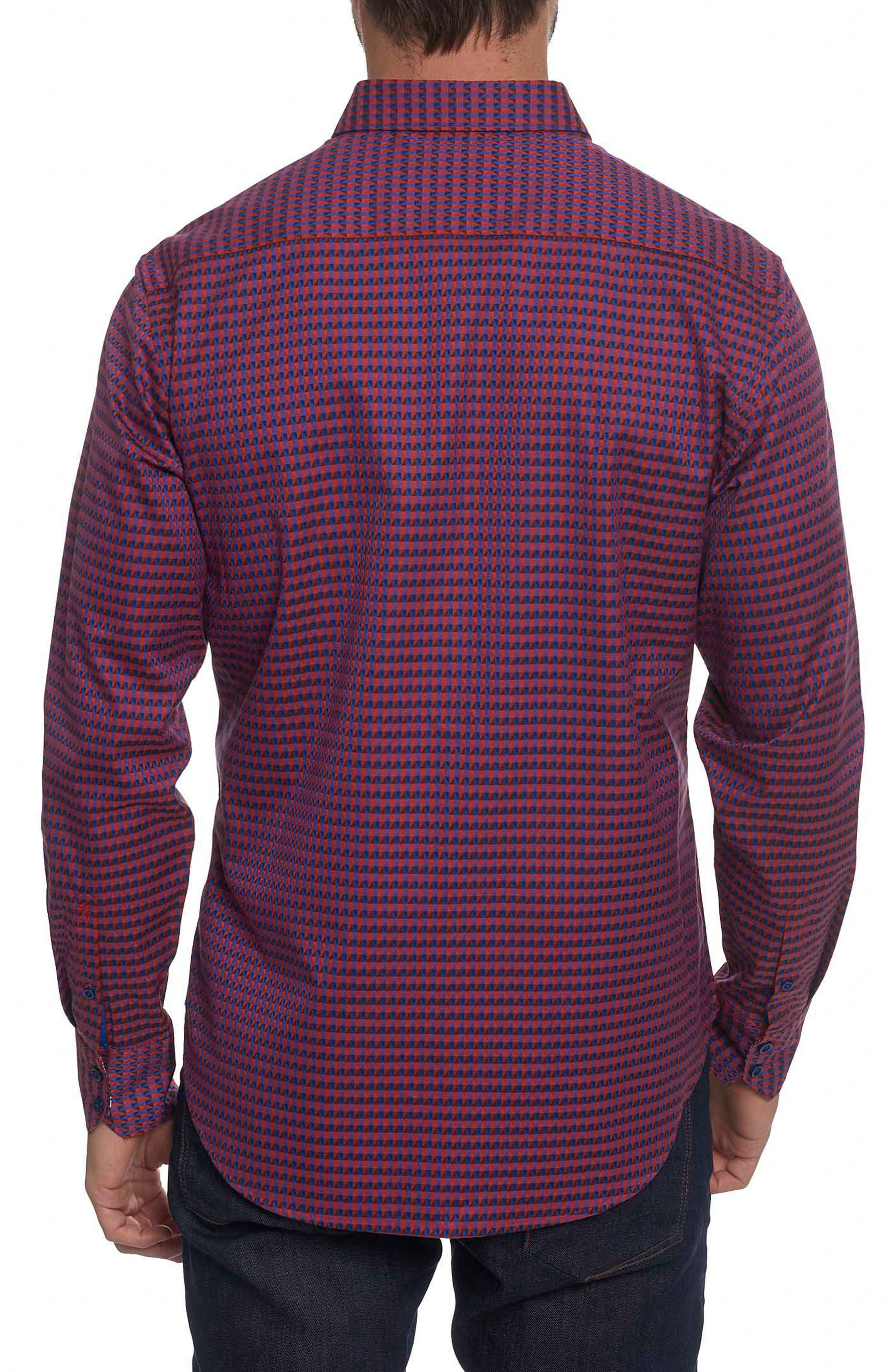 Orwell Classic Fit Print Sport Shirt,                             Alternate thumbnail 2, color,                             Red