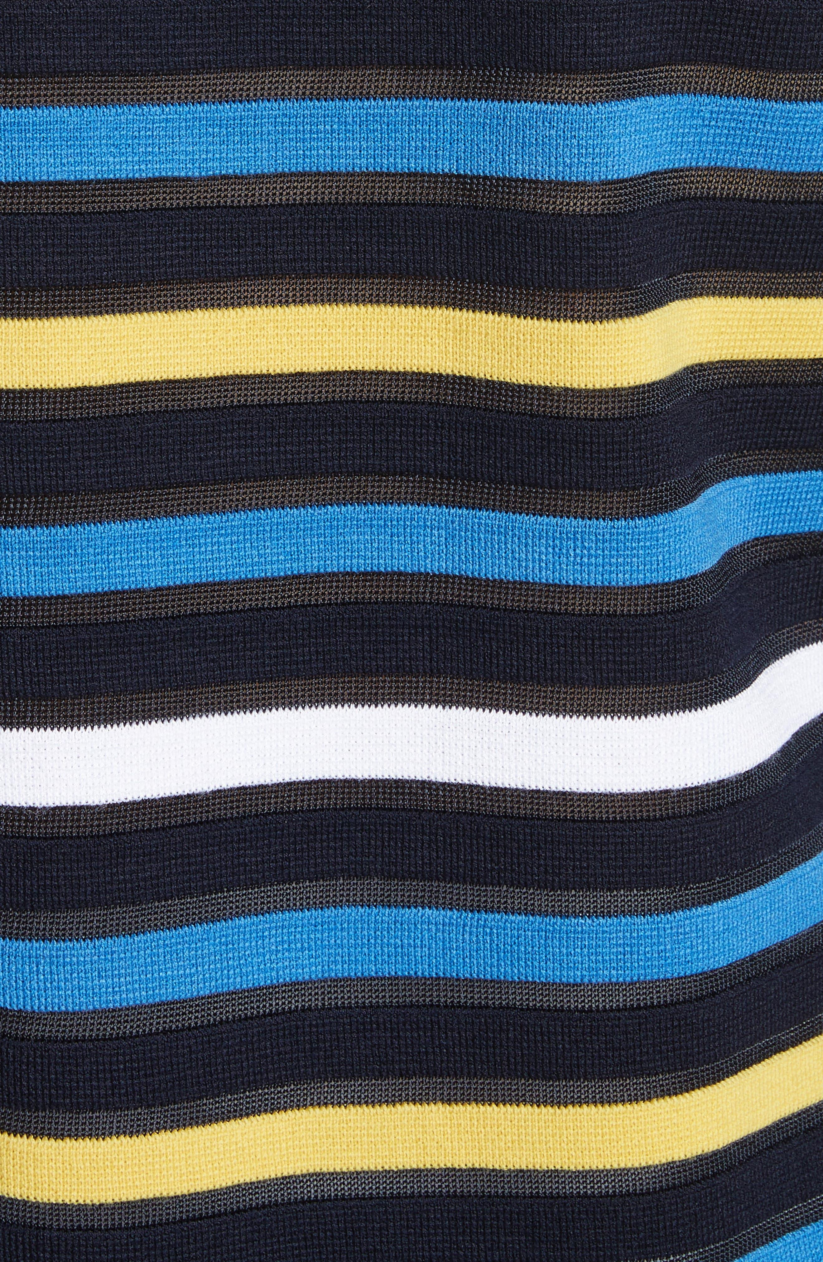 Ombré Stripe Sweater,                             Alternate thumbnail 5, color,                             Navy Multi
