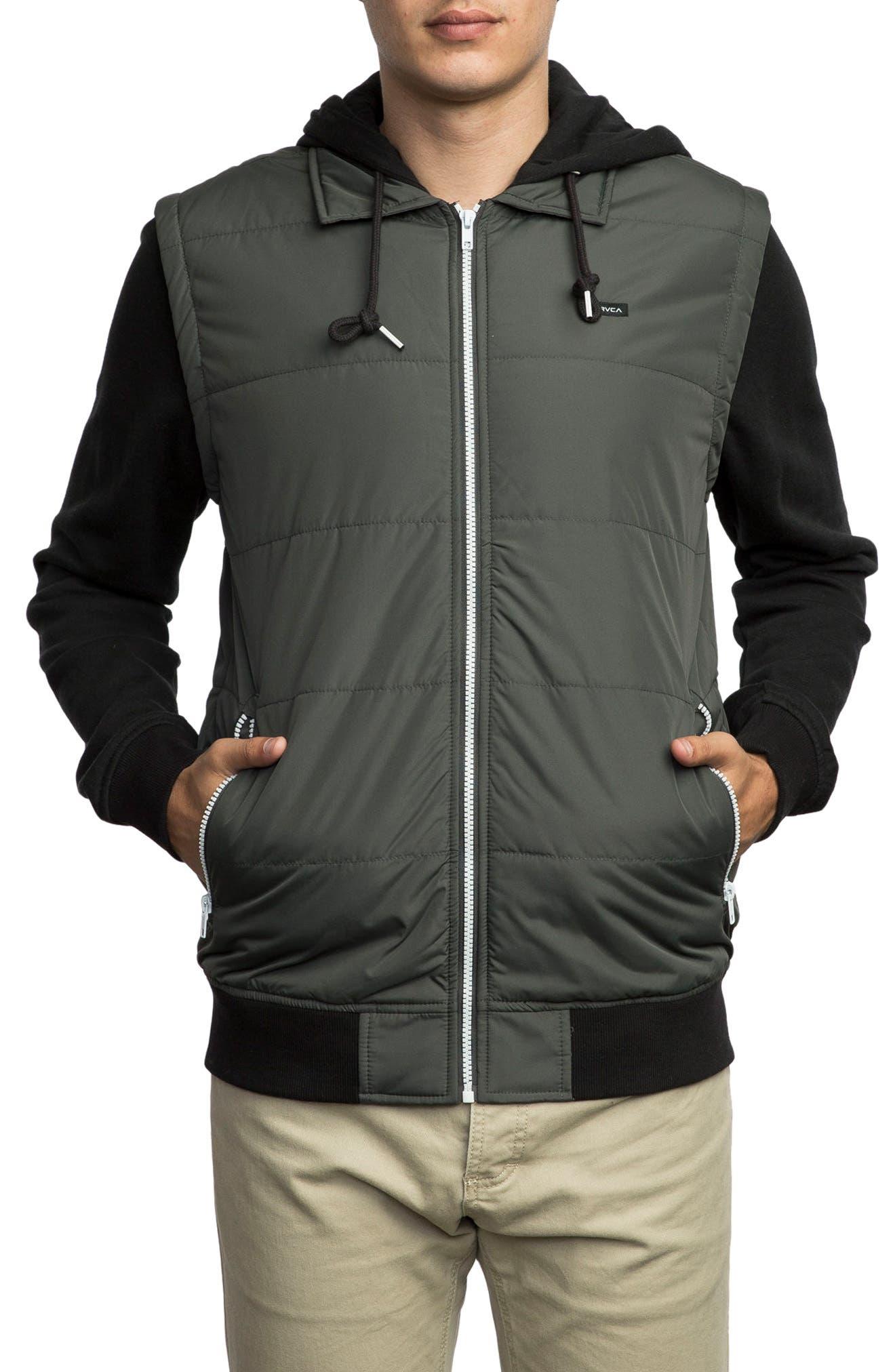 Alternate Image 1 Selected - RVCA Puffer Zips Hybrid Jacket