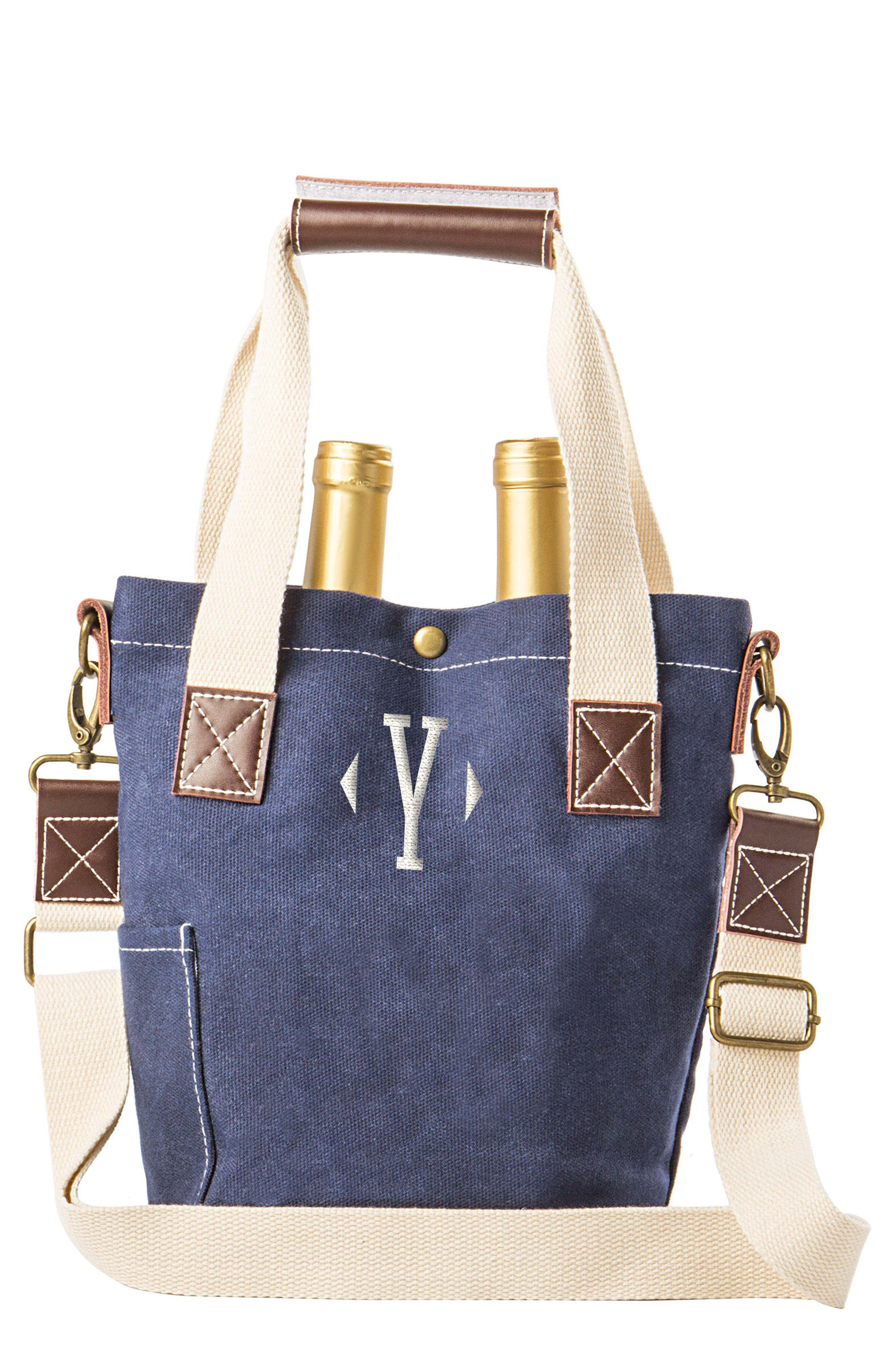 Alternate Image 1 Selected - Cathy's Concepts Monogram Wine Tote