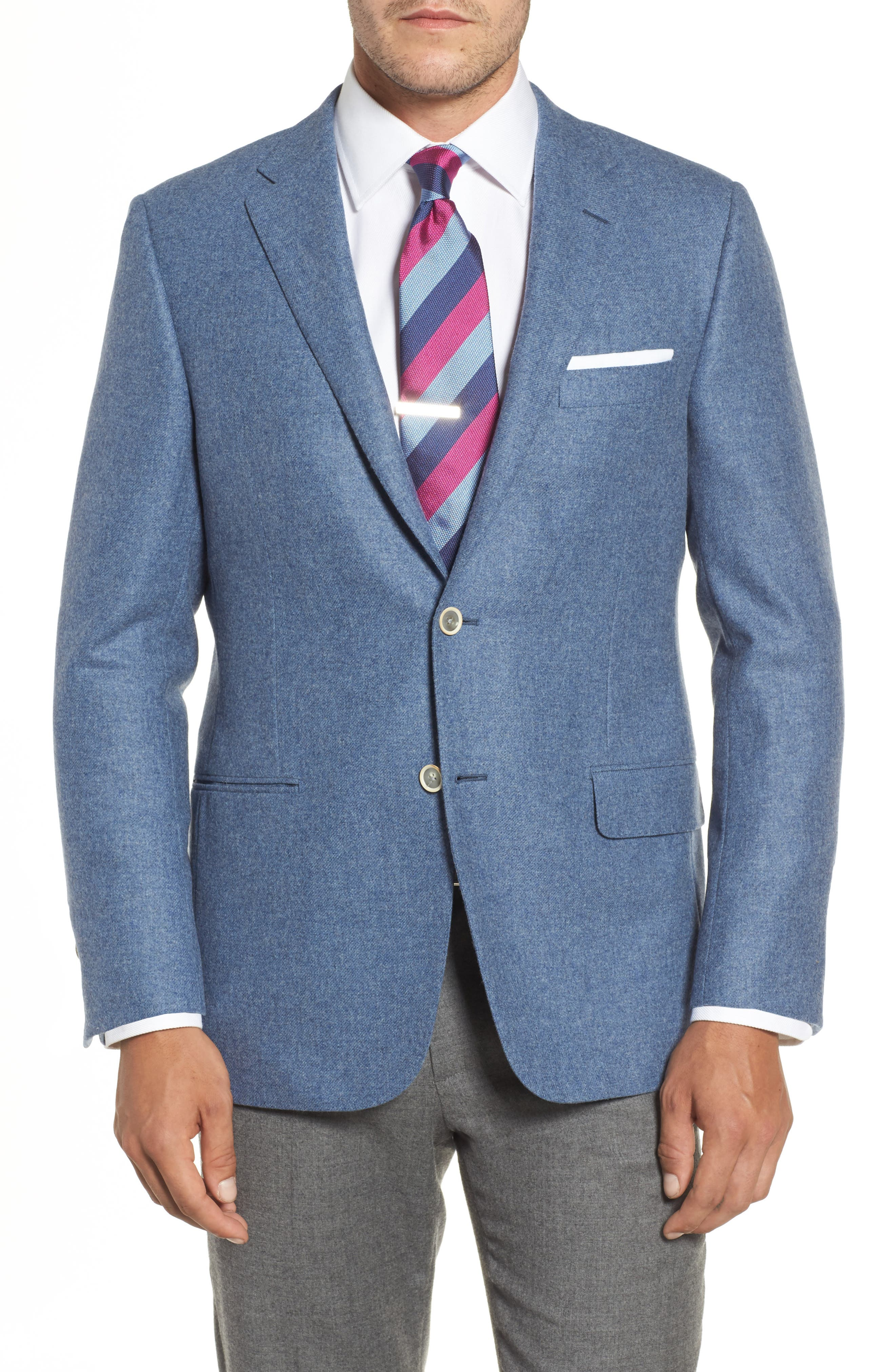 Hickey Freeman Beacon Classic Fit Wool & Cashmere Blazer