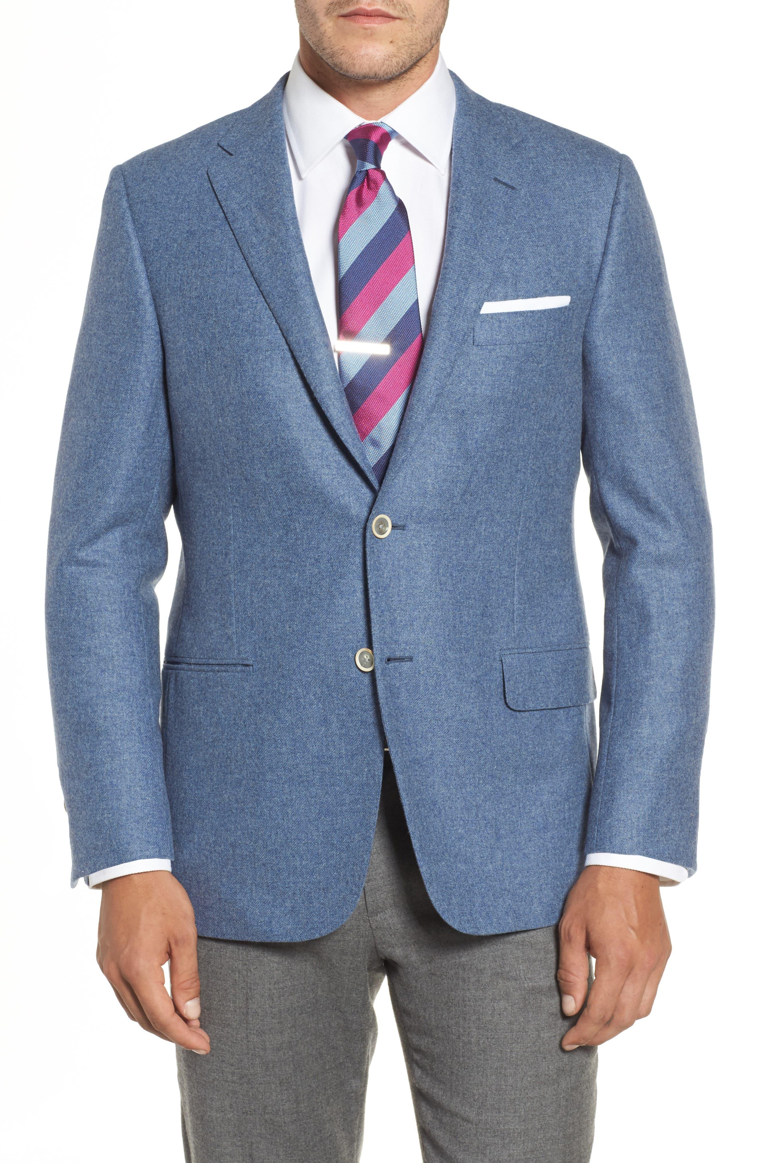 Hickey Freeman Beacon Classic Fit Wool & Cashmere Blazer
