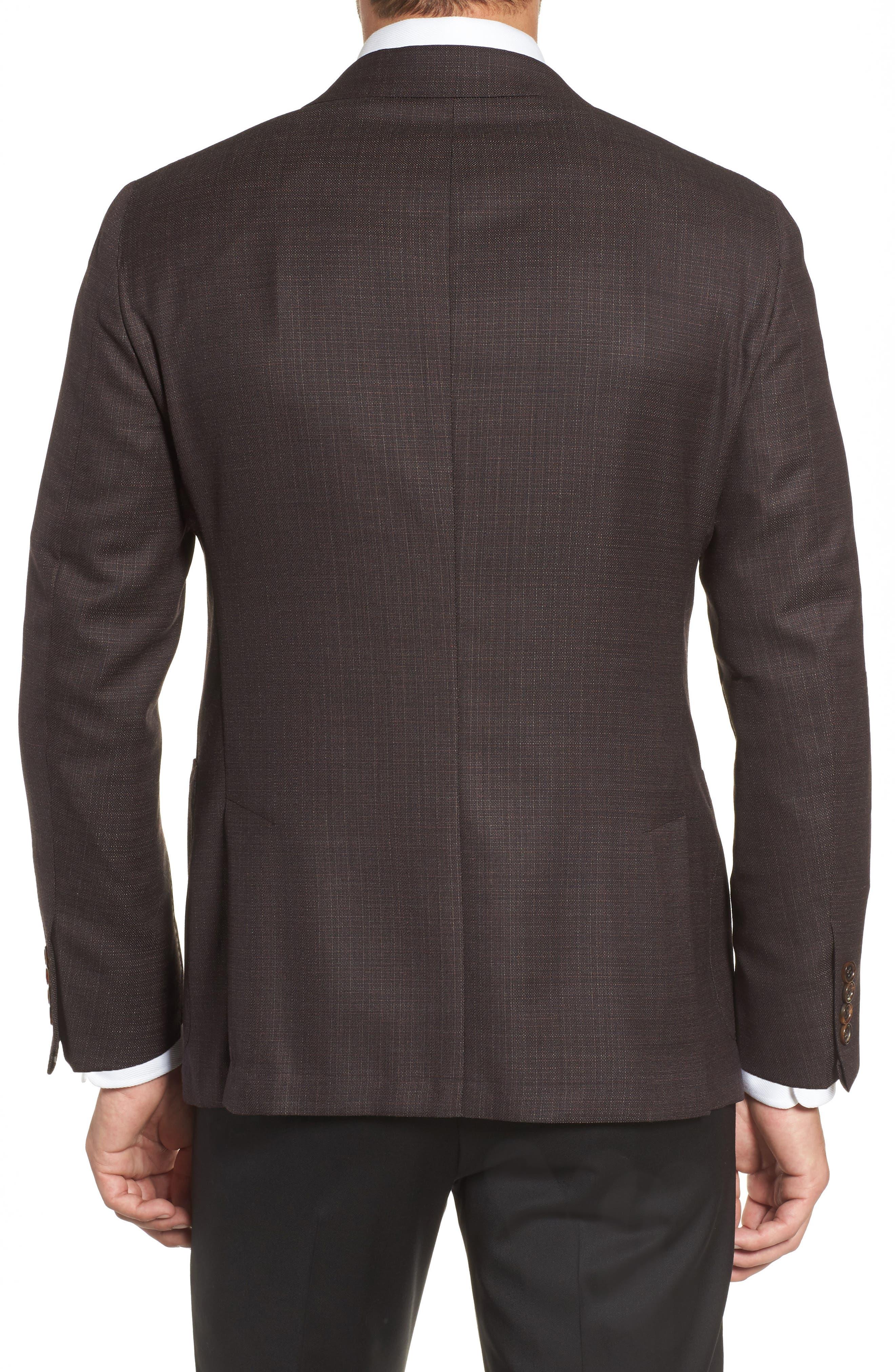 Alternate Image 2  - Hickey Freeman Classic B Fit Wool Blazer