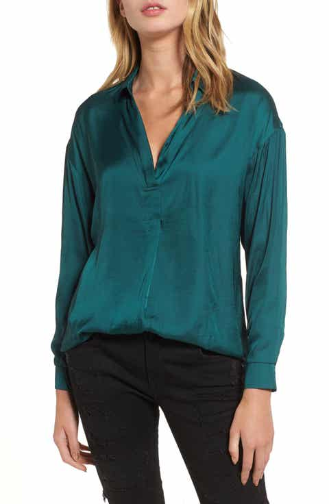 Women's Green Blouses Tops & Tees | Nordstrom