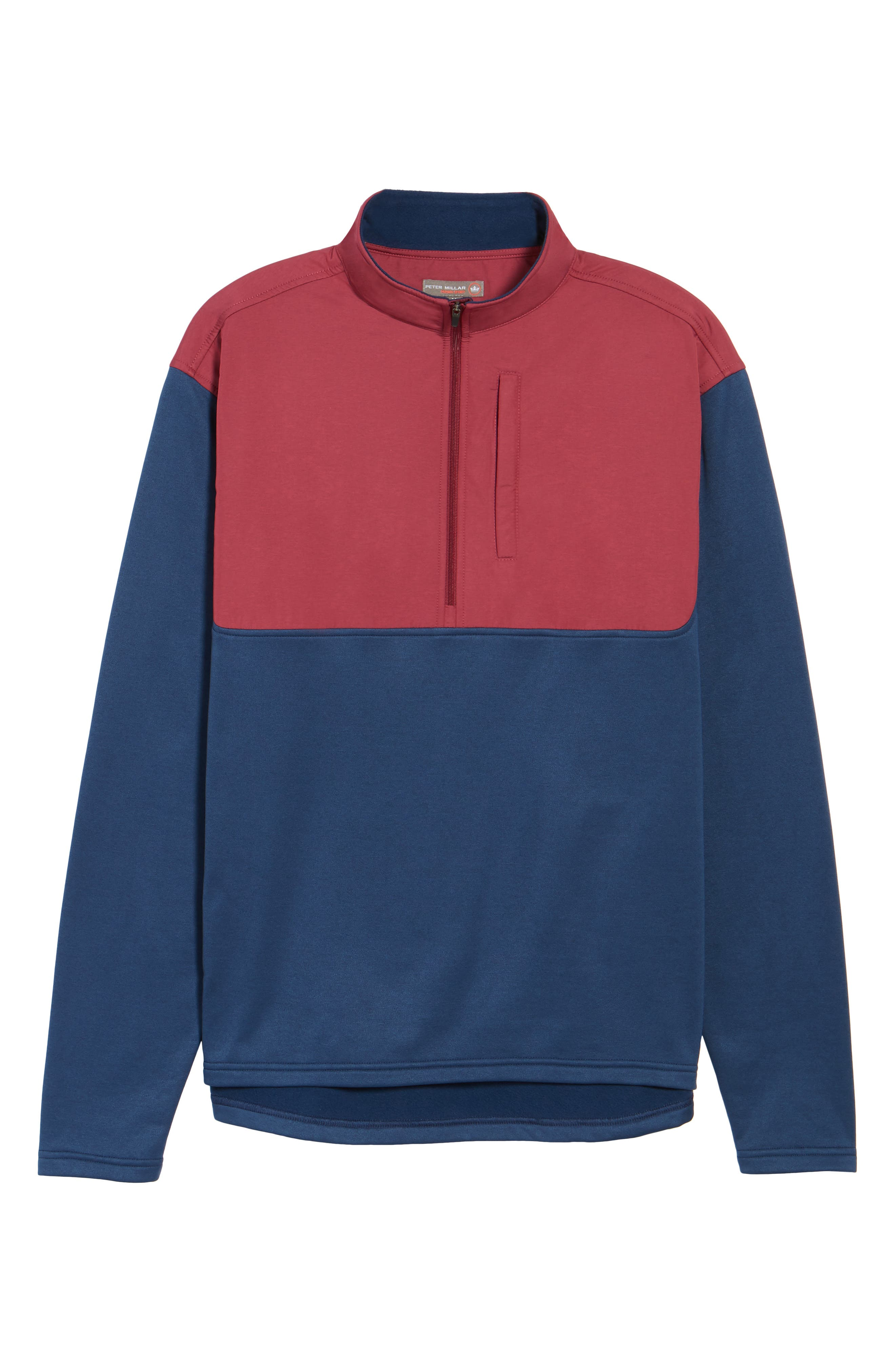 Cameron Hybrid Half Zip Pullover,                             Alternate thumbnail 6, color,                             Midnight/ French Wine
