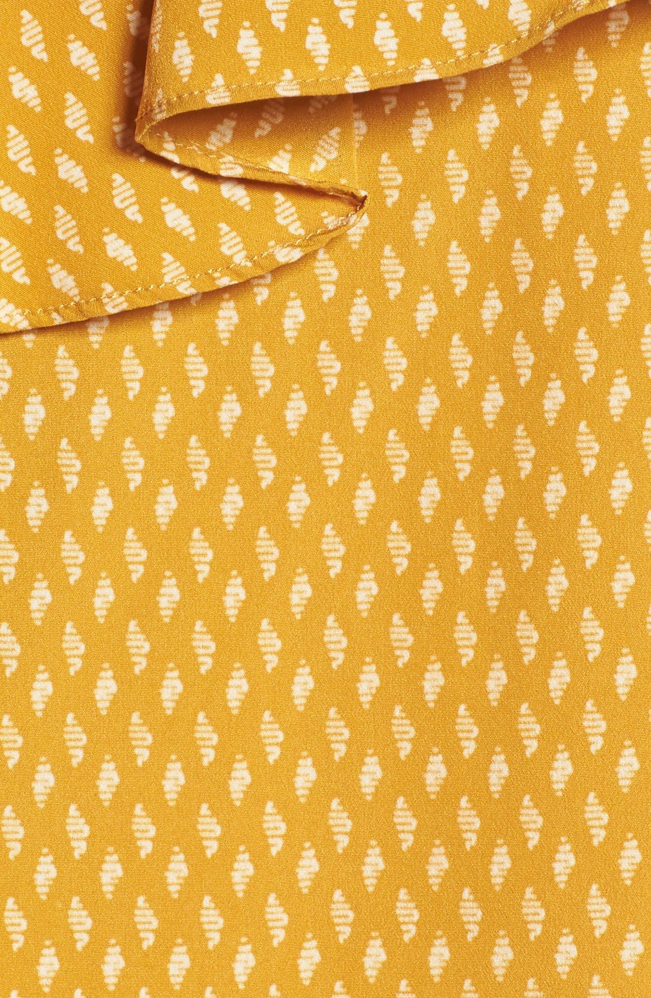 Alternate Image 5  - MISA Los Angeles Klea Ruffle One-Shoulder Top