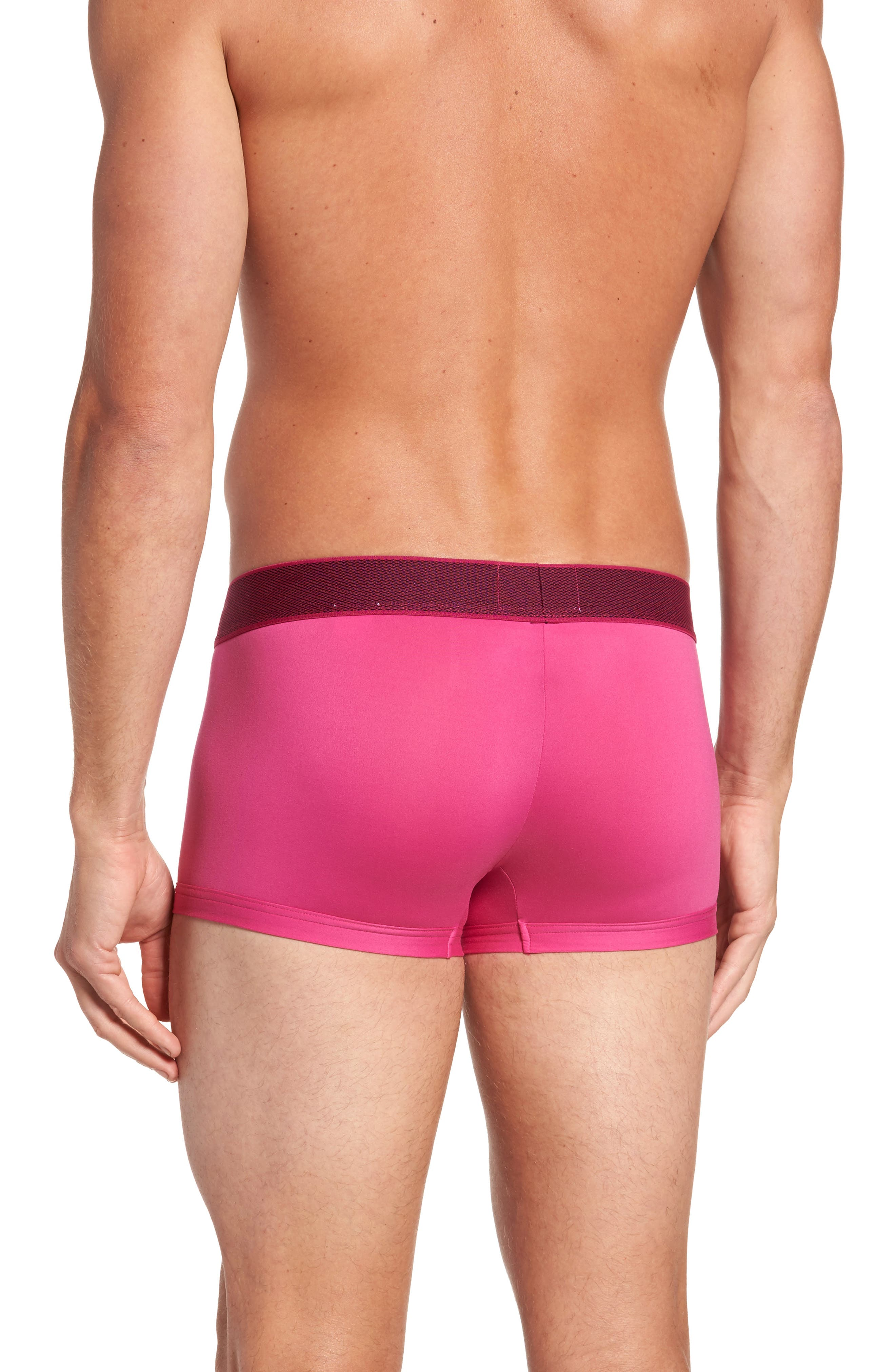Stretch Knit Low Rise Trunks,                             Alternate thumbnail 2, color,                             Roseate