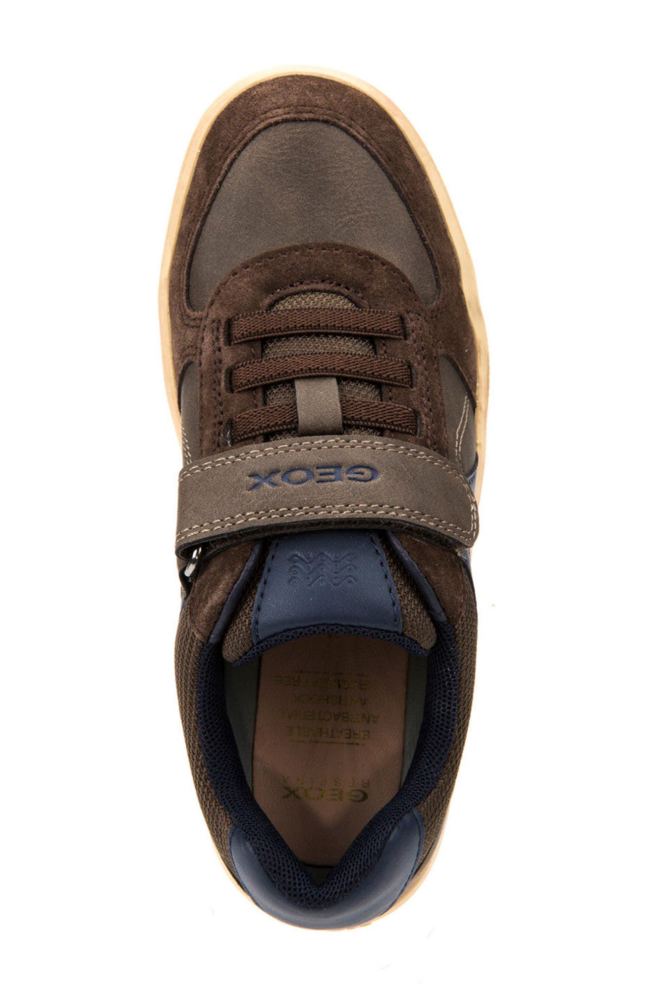 Arzach Low Top Sneaker,                             Alternate thumbnail 5, color,                             Brown/ Navy