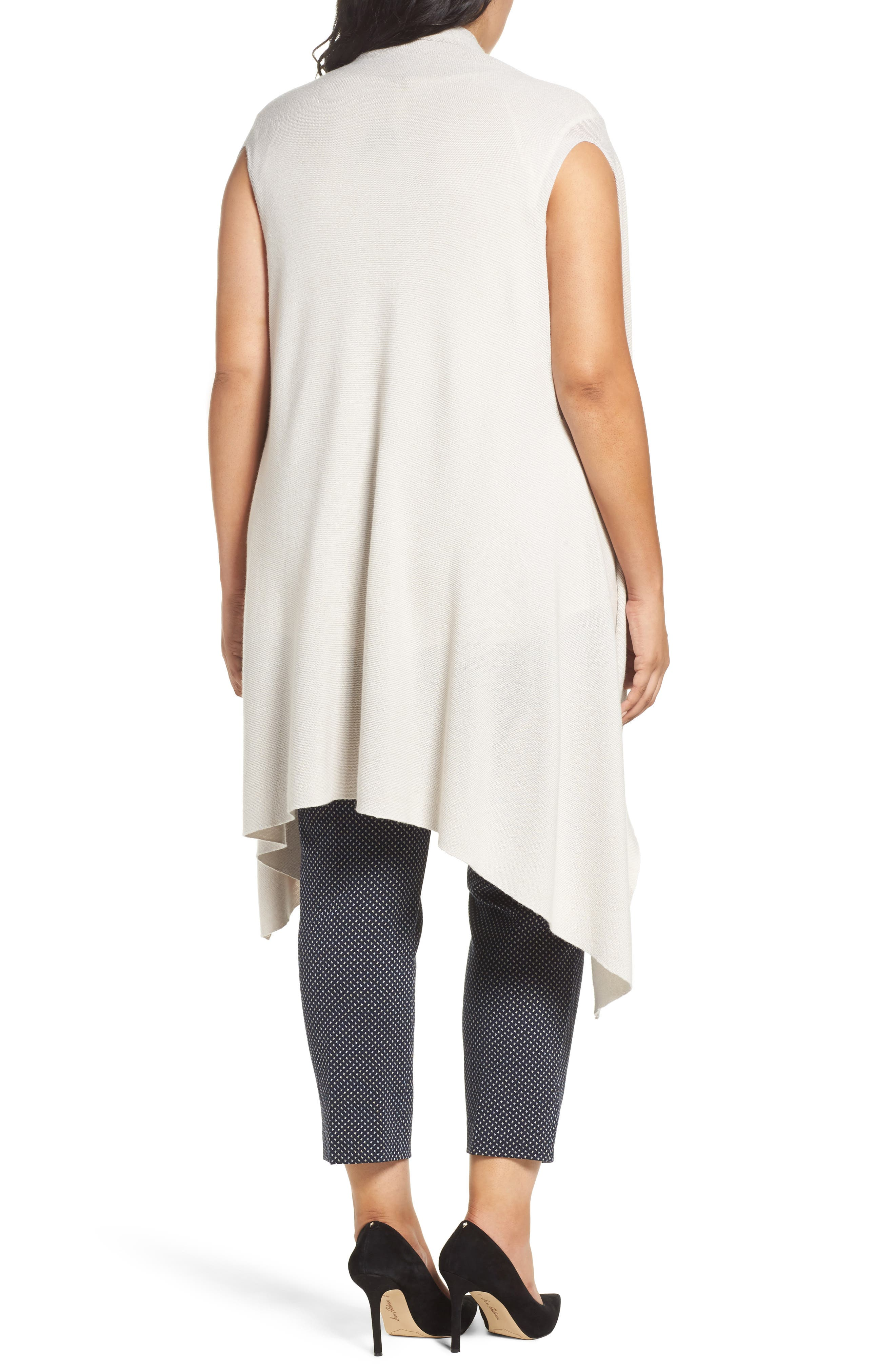Wool Blend Knit Vest,                             Alternate thumbnail 2, color,                             Light Grey