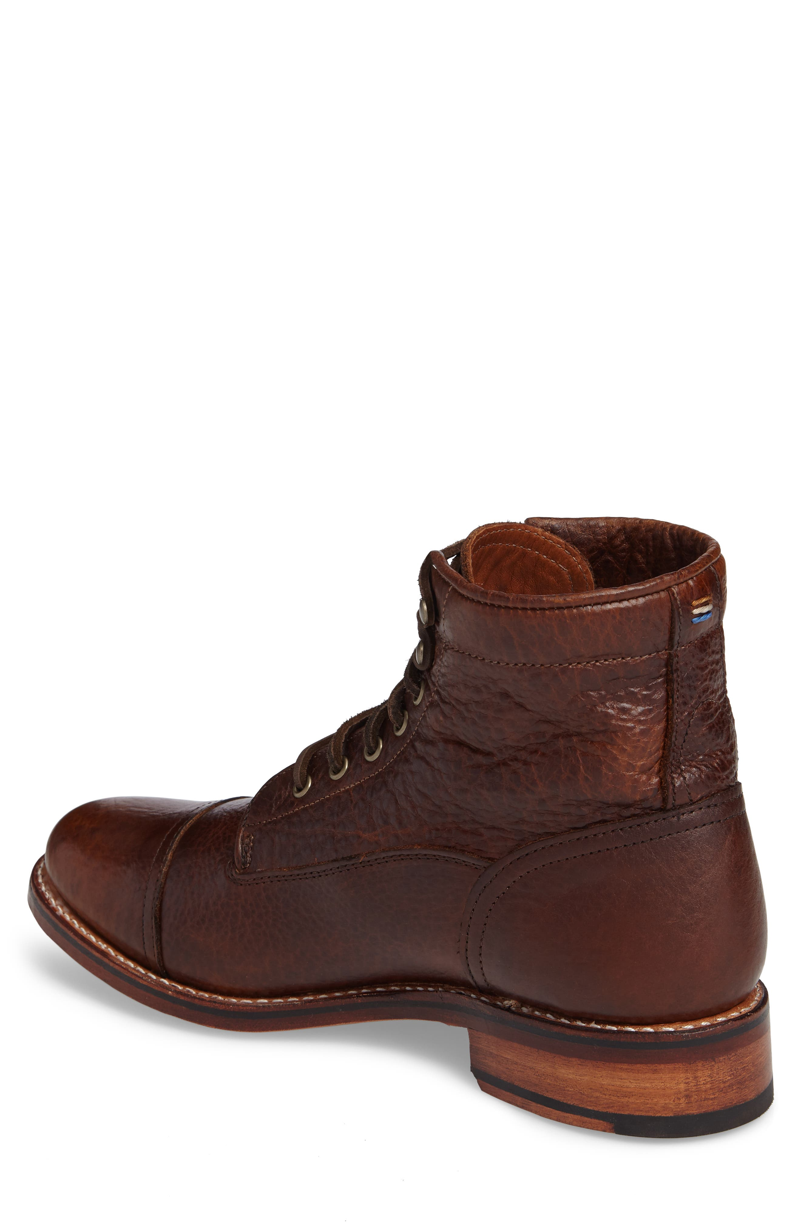 Ariat Highlands Cap Toe Boot,                             Alternate thumbnail 2, color,                             Whiskey Bourbon Leather