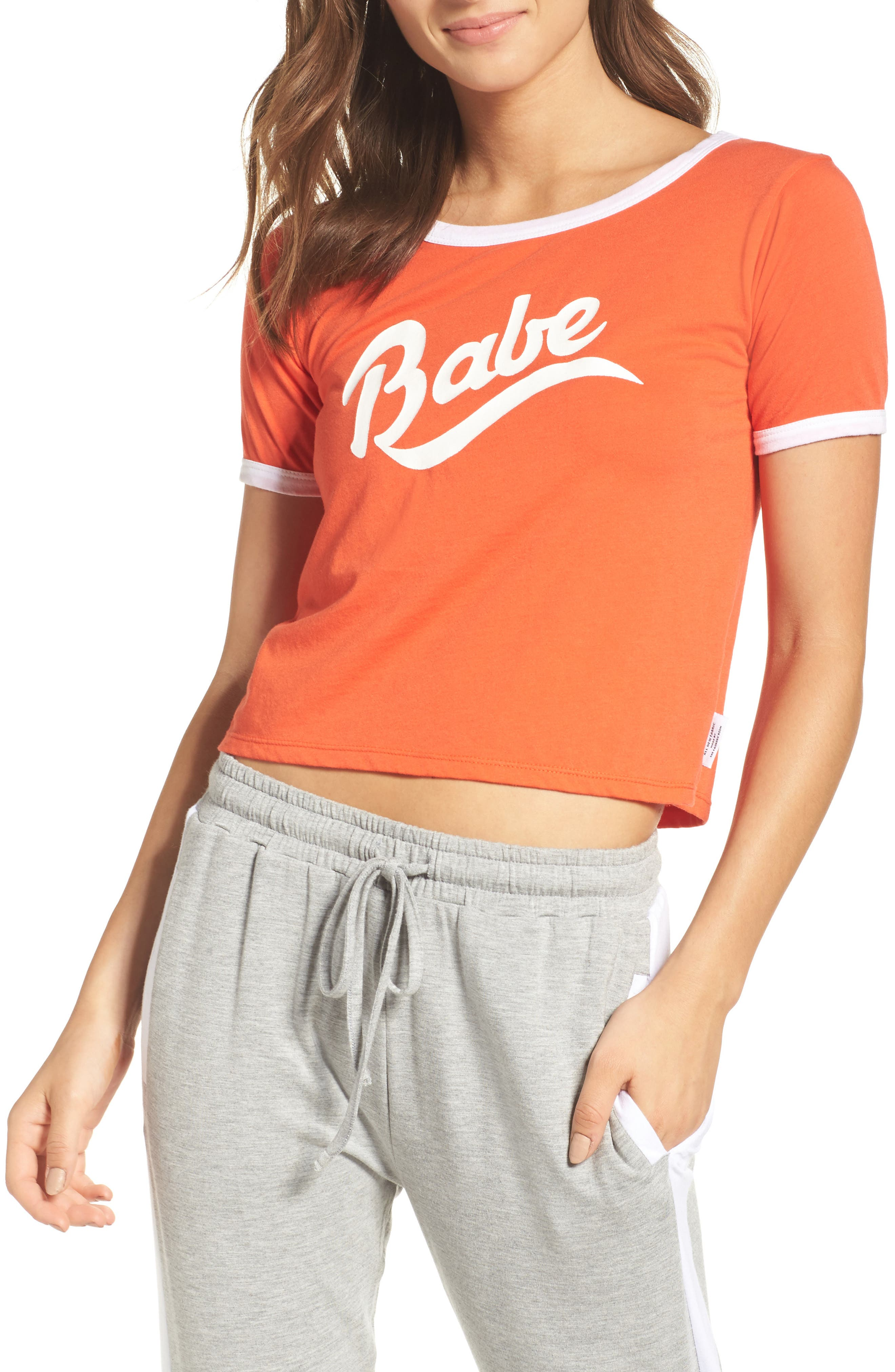 Babe Tee,                         Main,                         color, Red Hot