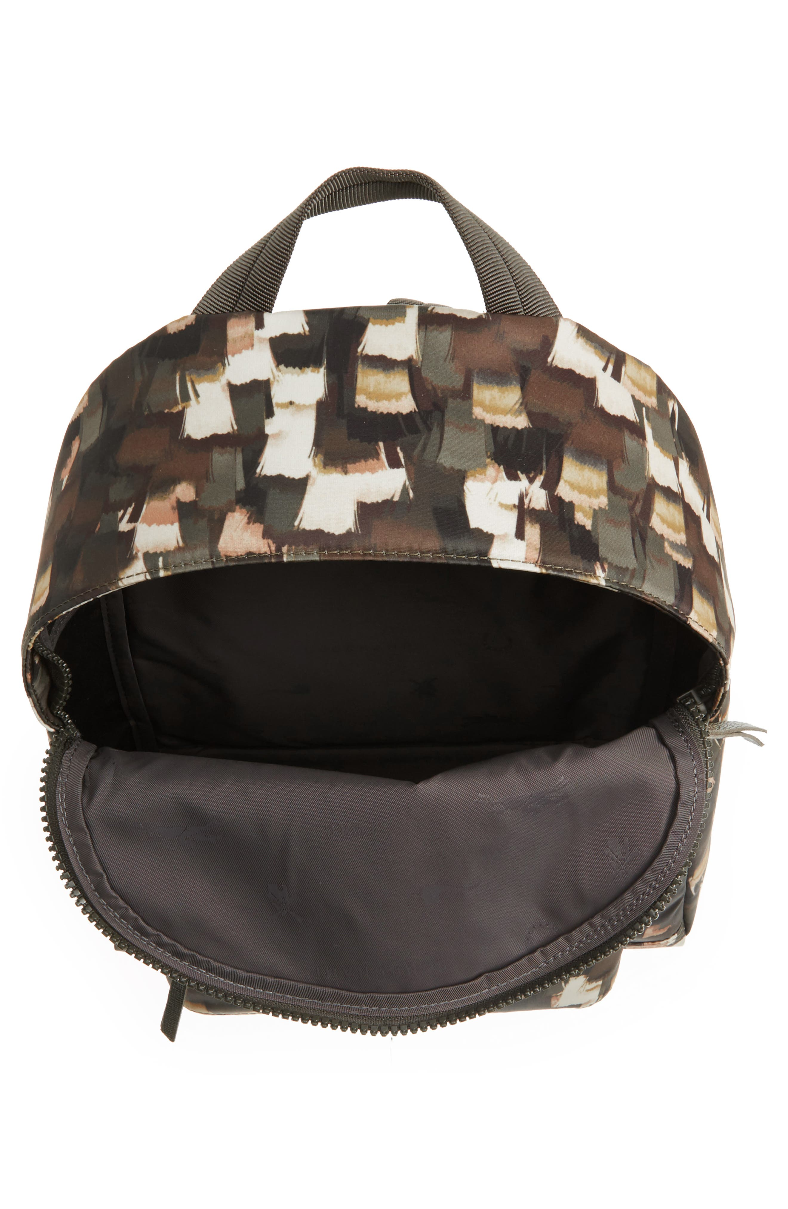 Le Pliage Neo - Vibrations Nylon Backpack,                             Alternate thumbnail 3, color,                             Khaki