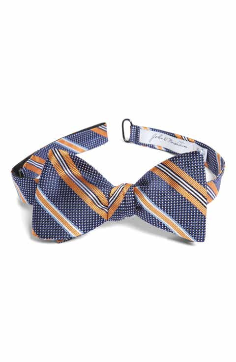 Mens john w nordstrom bow ties self tying traditional john w nordstrom dotted stripe silk bow tie ccuart Images