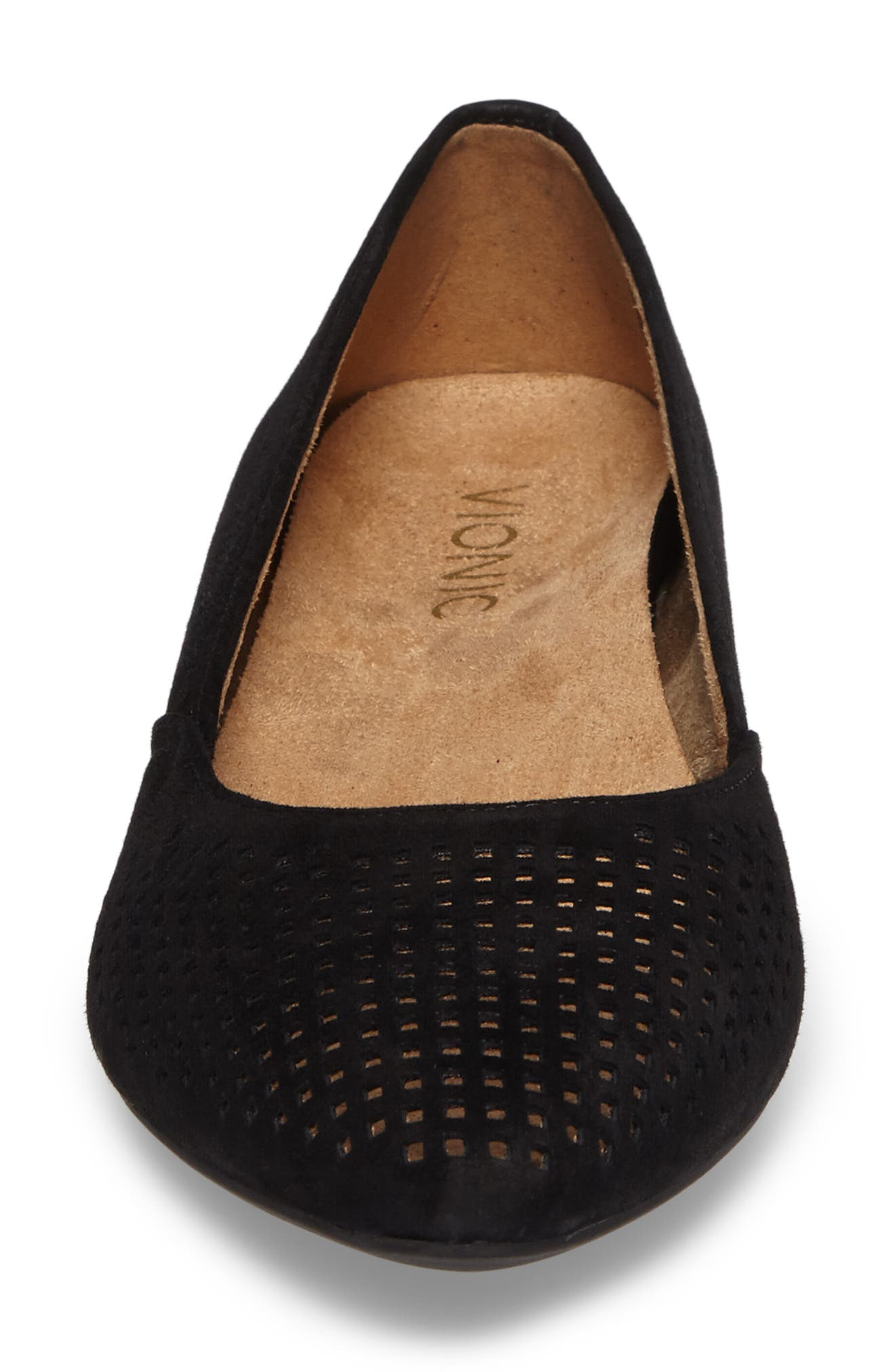 Posey Flat,                             Alternate thumbnail 4, color,                             Black Suede