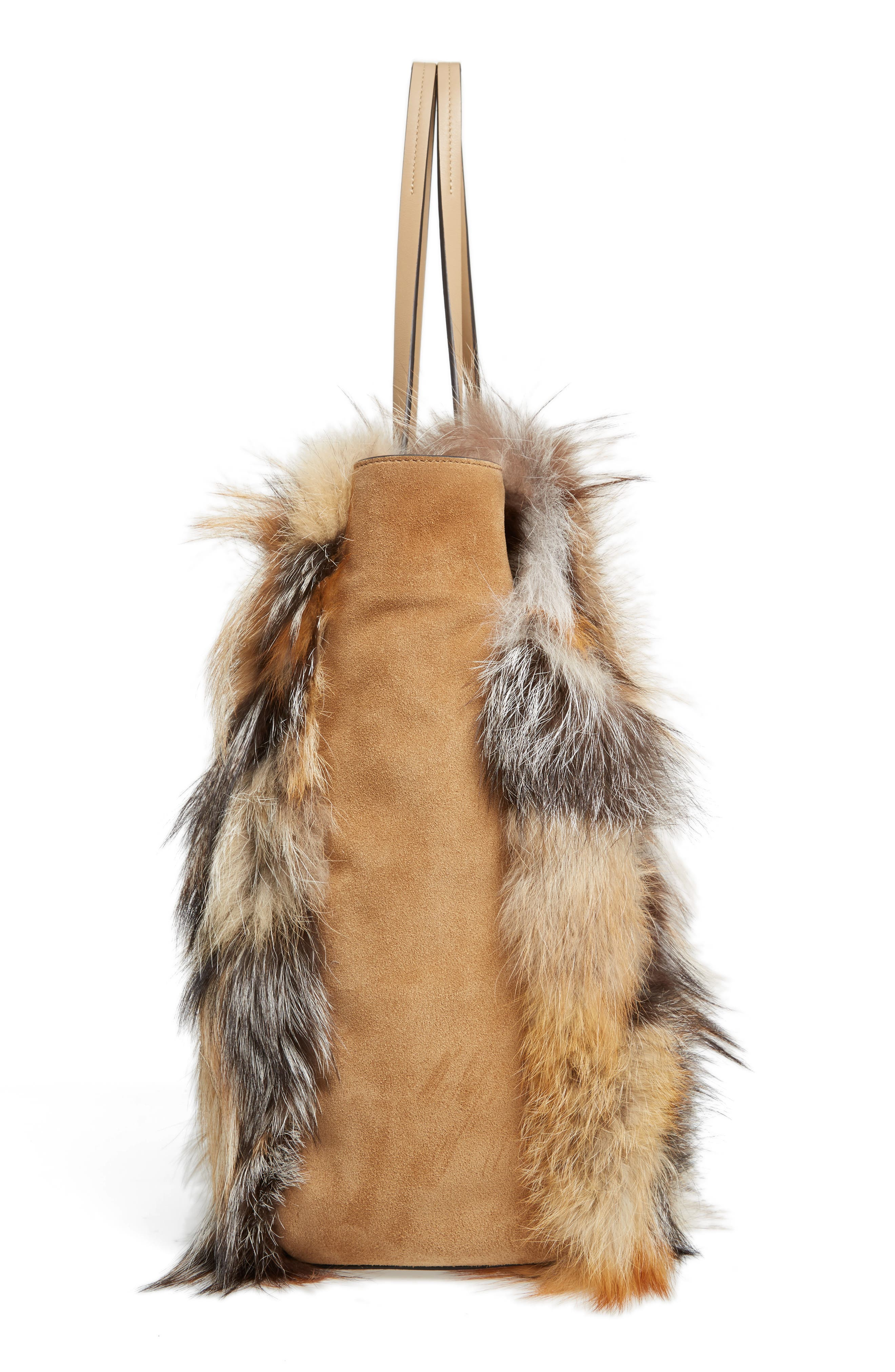 Alternate Image 4  - Michael Kors Large Elenor Genuine Fox Fur Tote