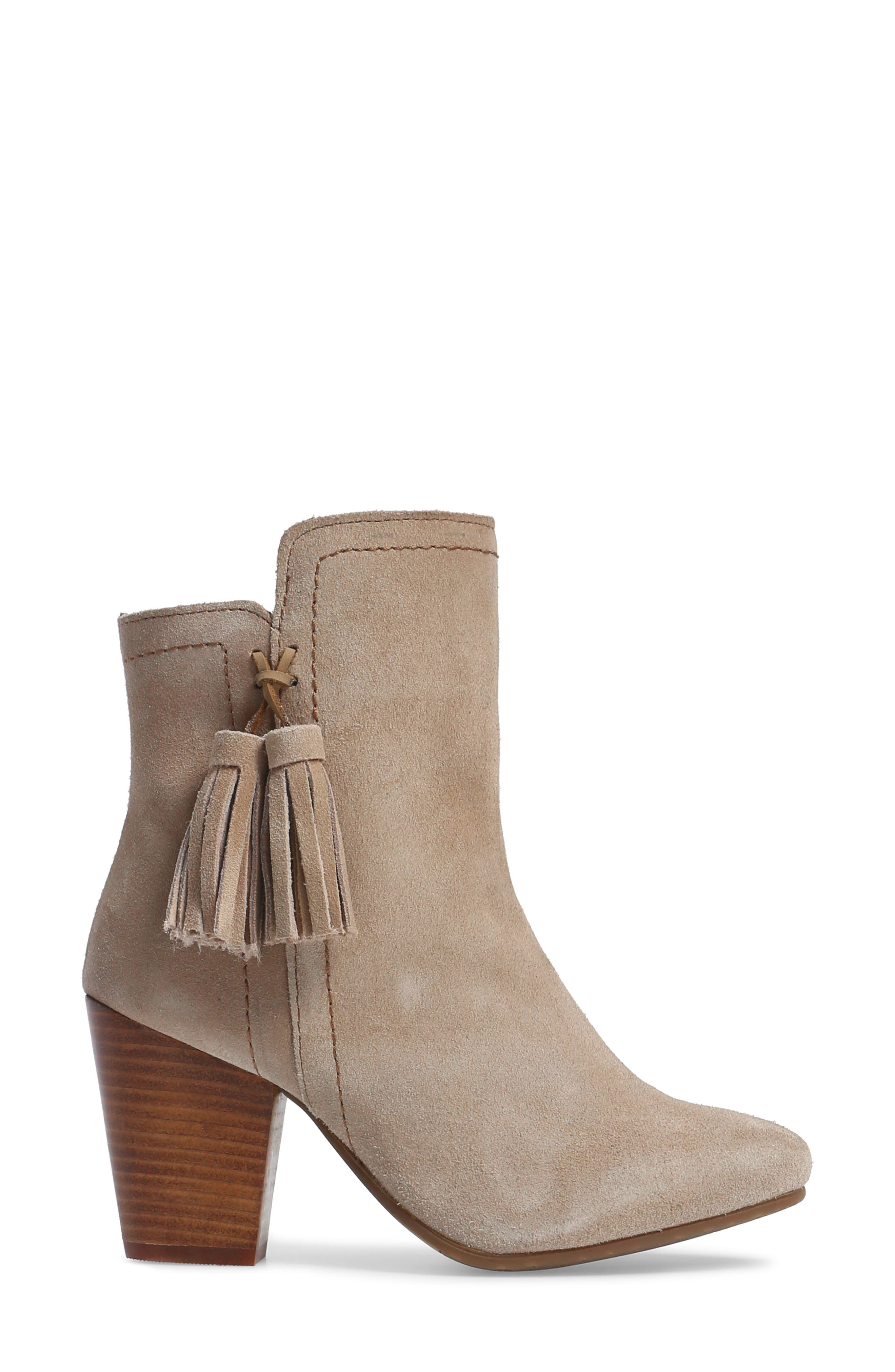 Daisee Billie Bootie,                             Alternate thumbnail 3, color,                             Taupe Suede