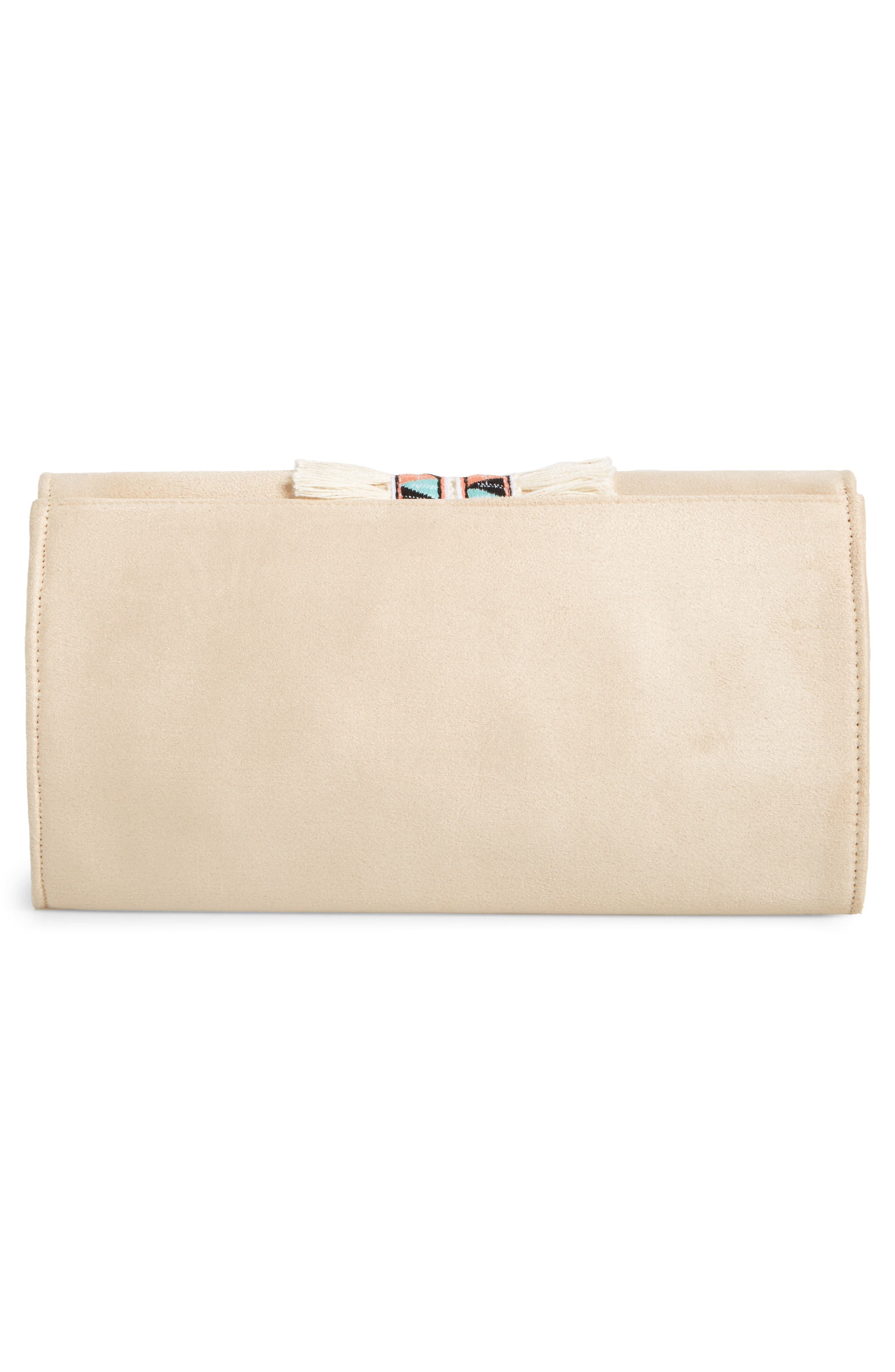Rada Embroidered Clutch,                             Alternate thumbnail 2, color,                             Sand