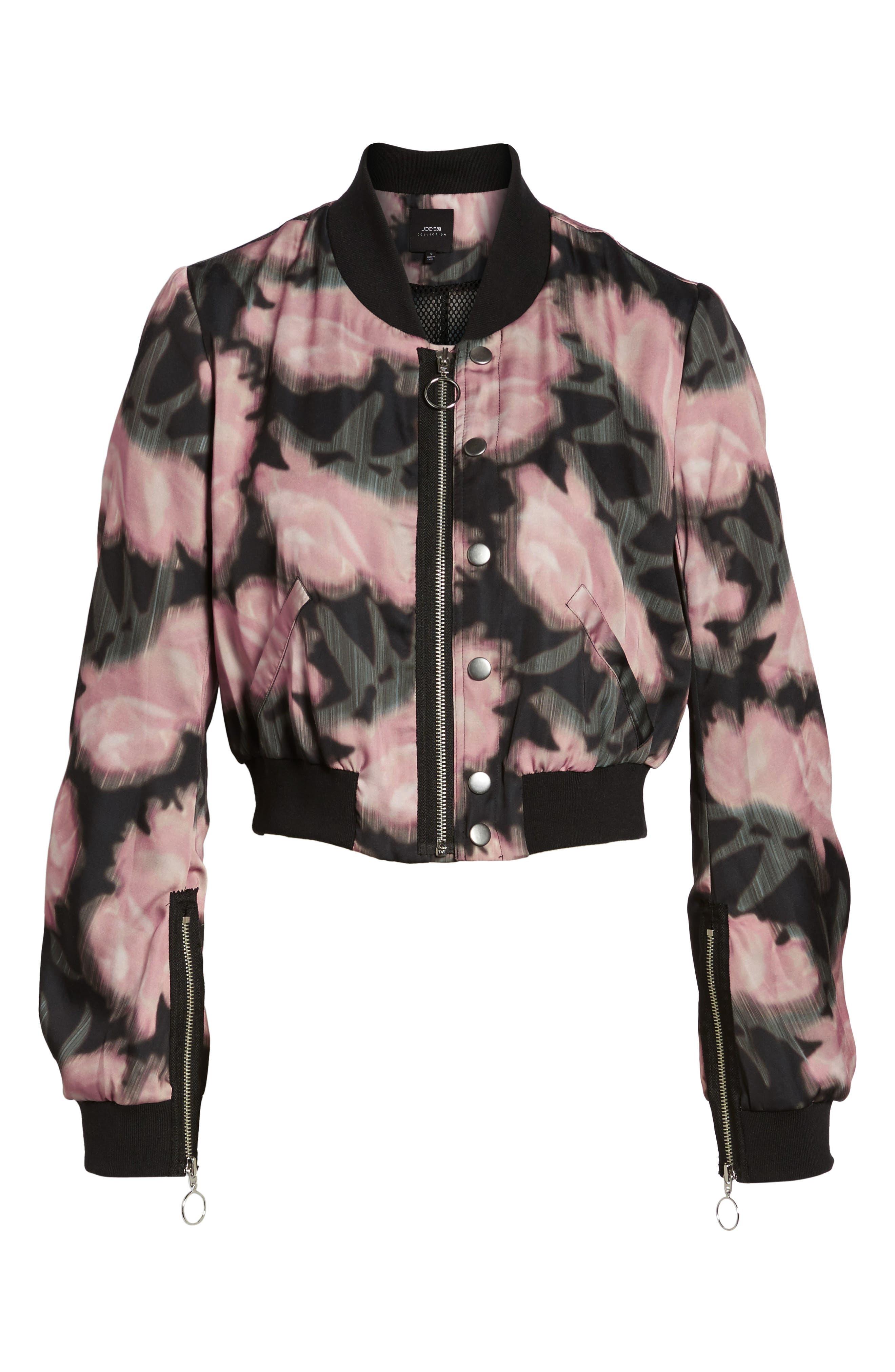 Alternate Image 6  - Joe's Denni Floral Bomber Jacket