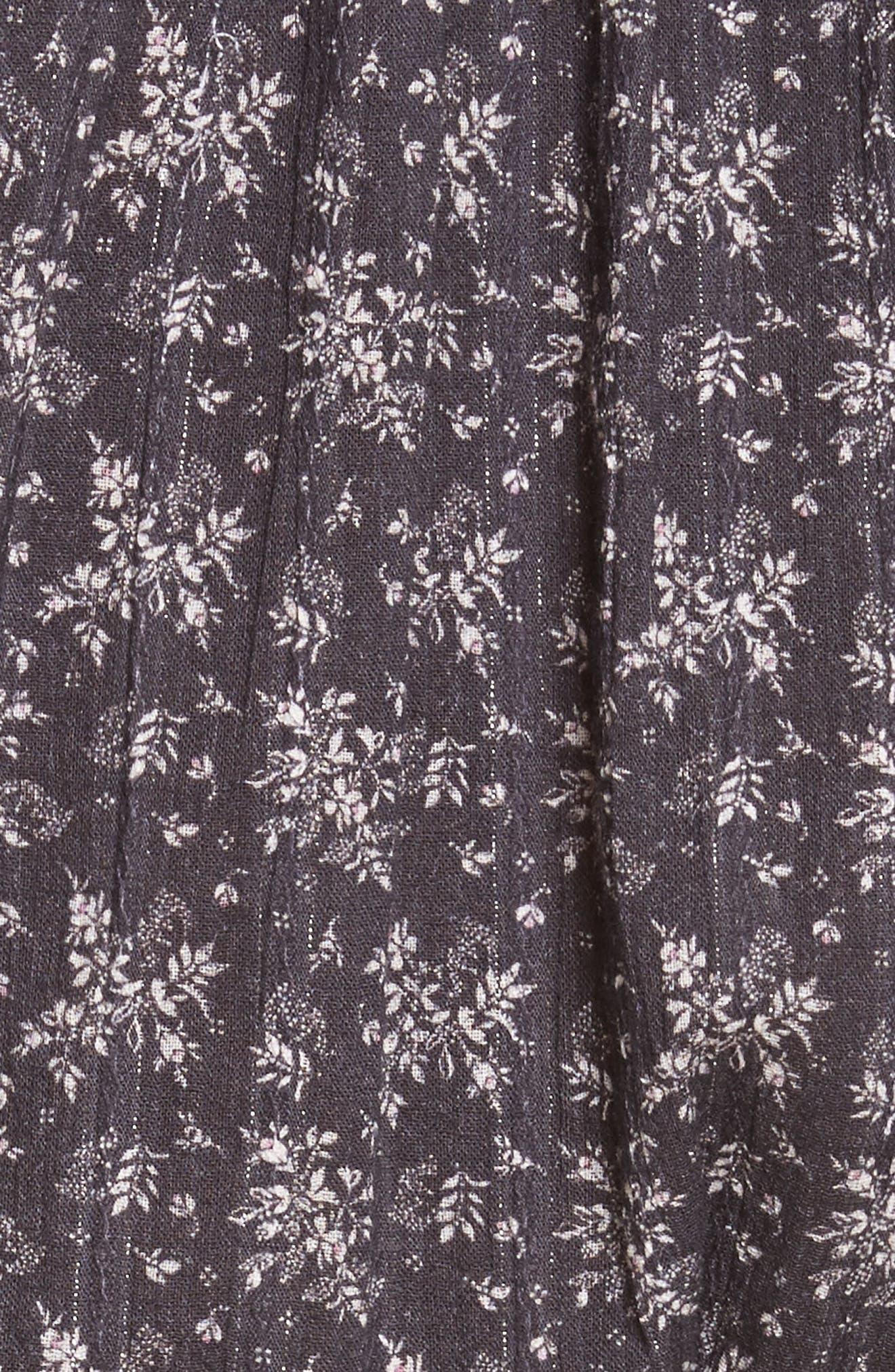 Angelique Long Sleeve Dress,                             Alternate thumbnail 5, color,                             Black Combo
