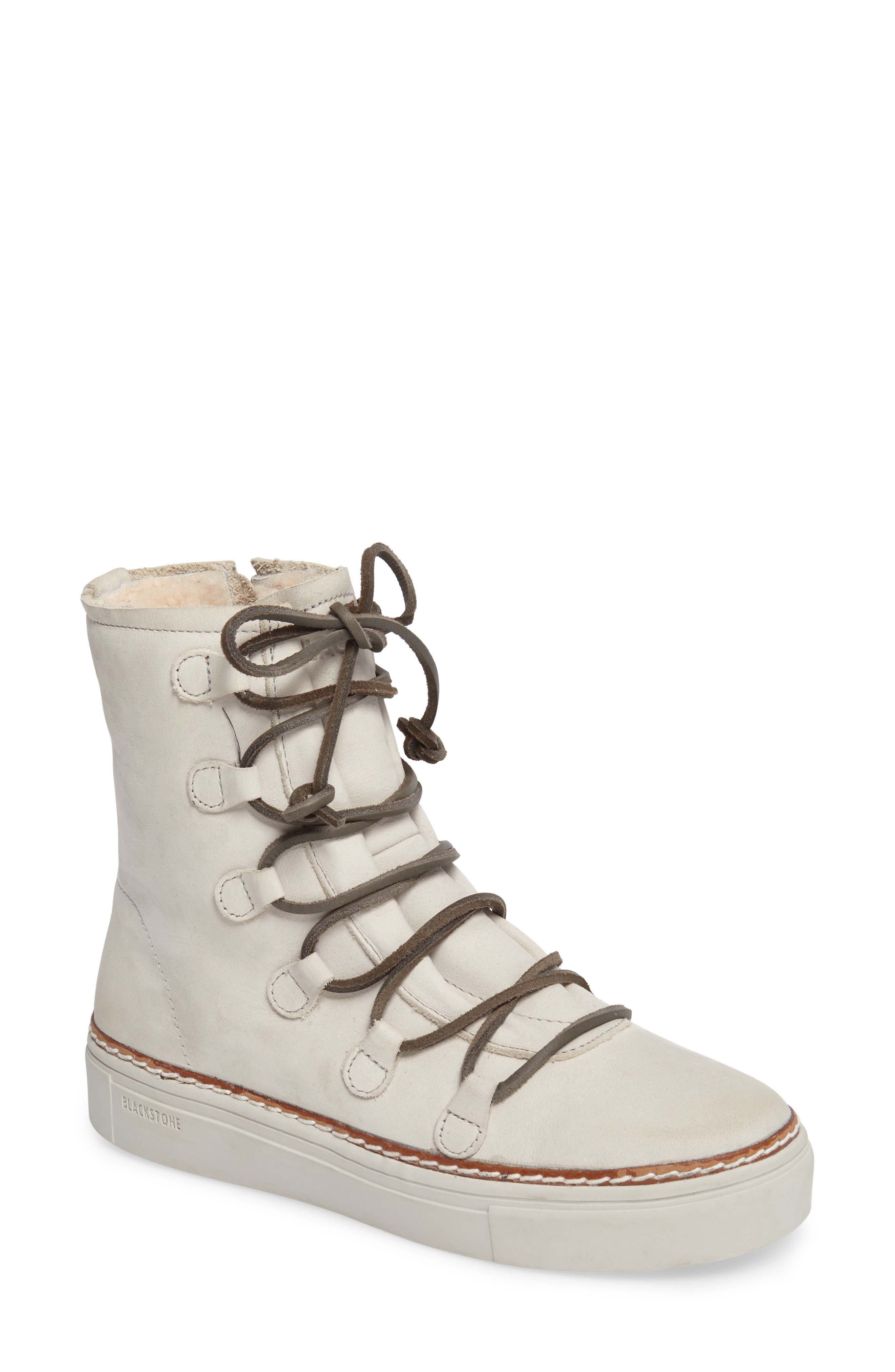 Blackstone OL26 Genuine Shearling Lined Lace-Up Bootie (Women)