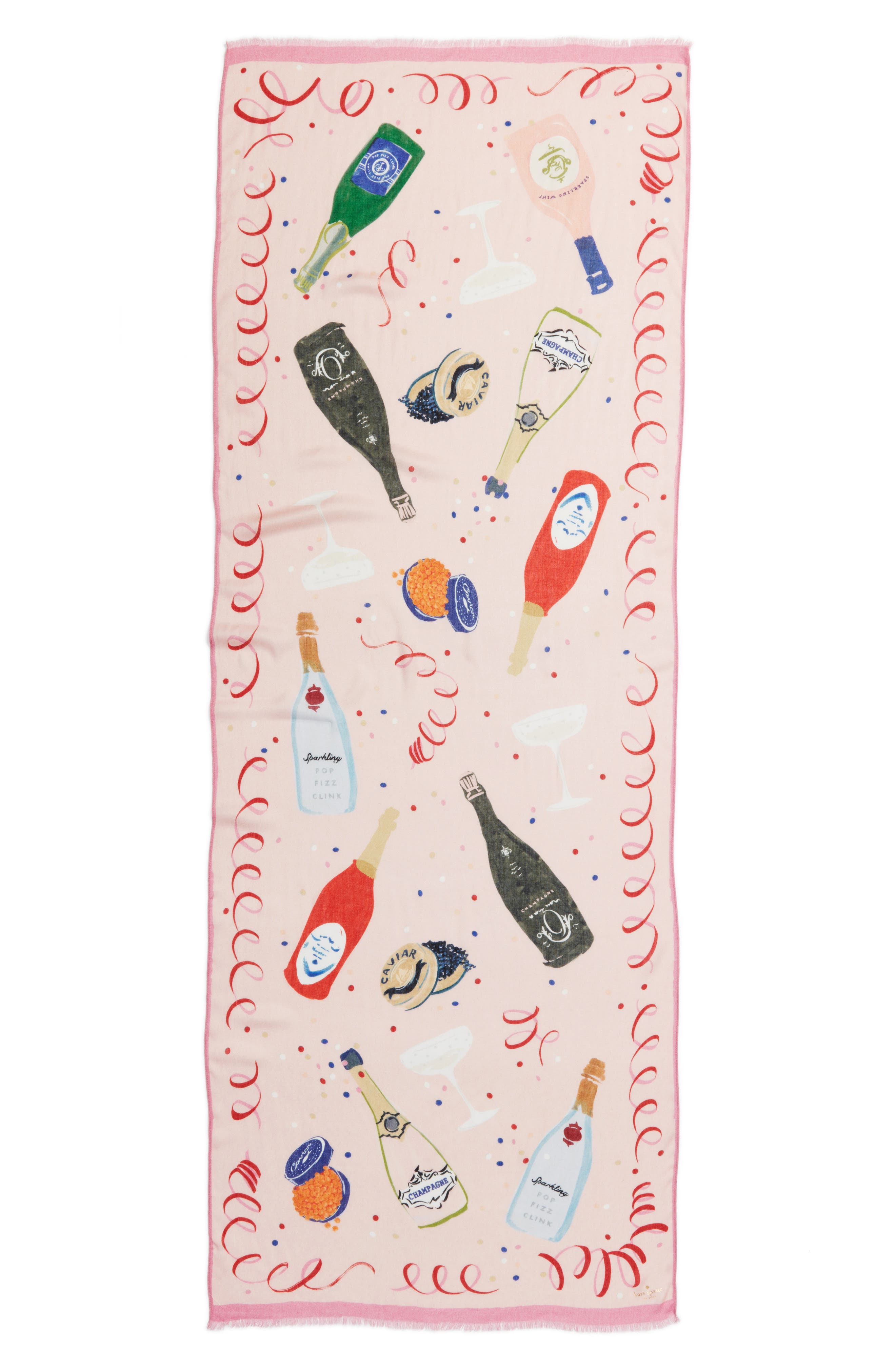 champagne oblong scarf,                             Alternate thumbnail 2, color,                             Pink Champagne