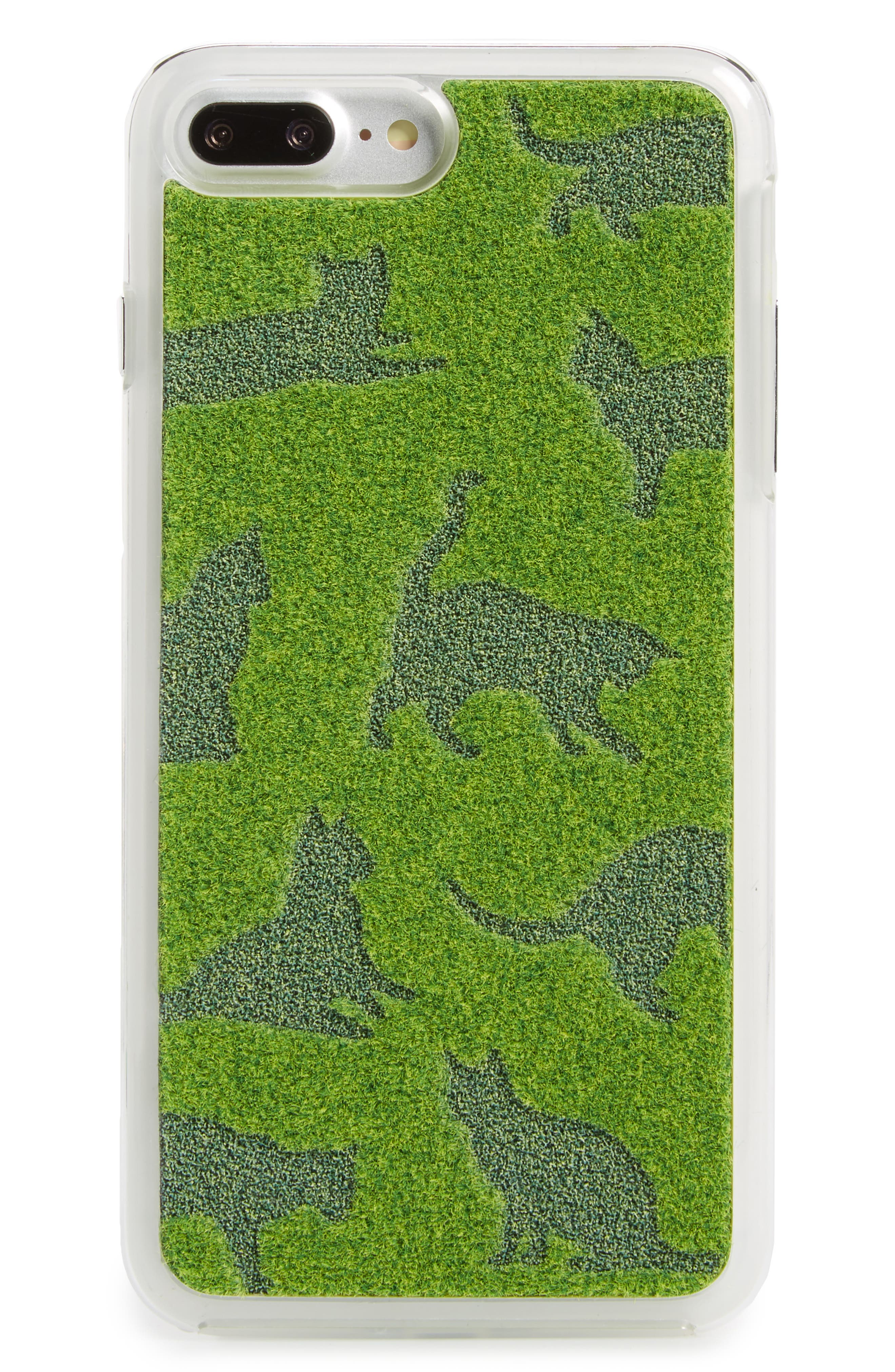 Cat Me iPhone 7 & iPhone 7 Plus Case,                             Main thumbnail 1, color,                             Original Green