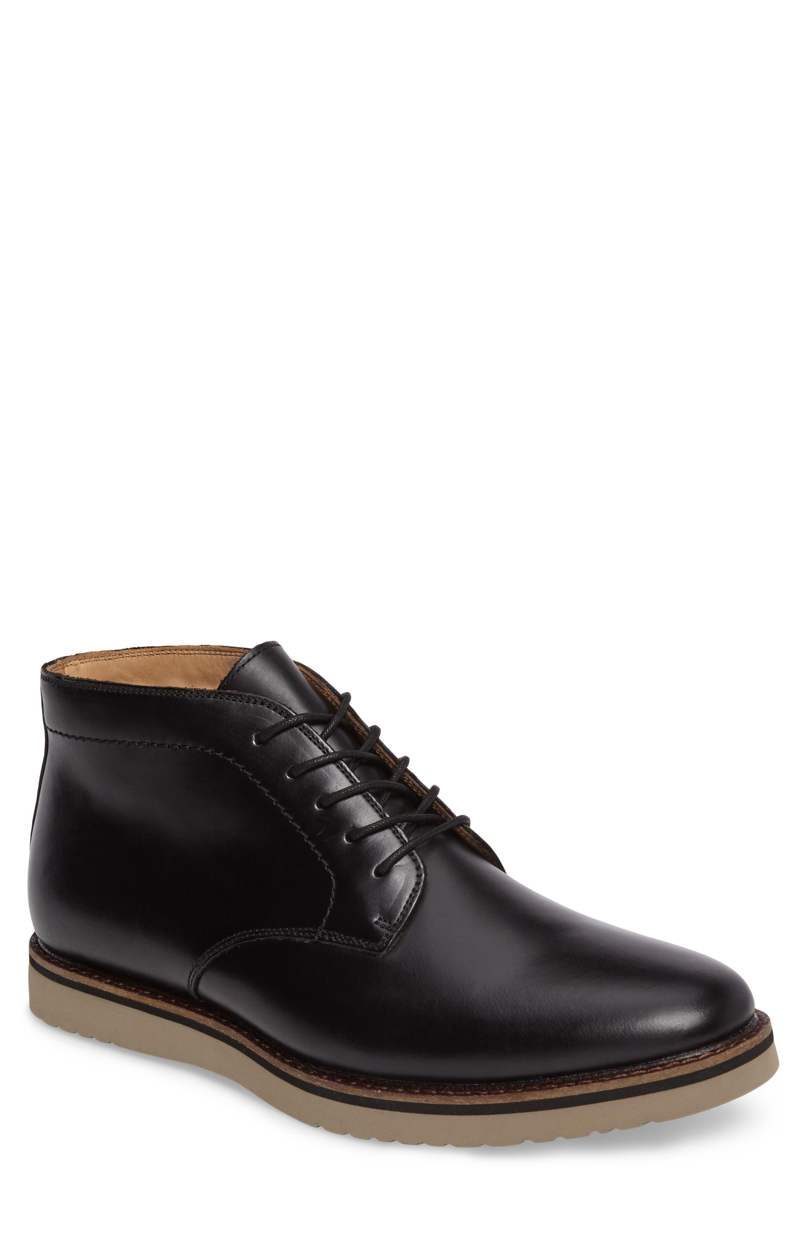 'Farley' Chukka Boot,                             Main thumbnail 1, color,                             Black/ Black Leather