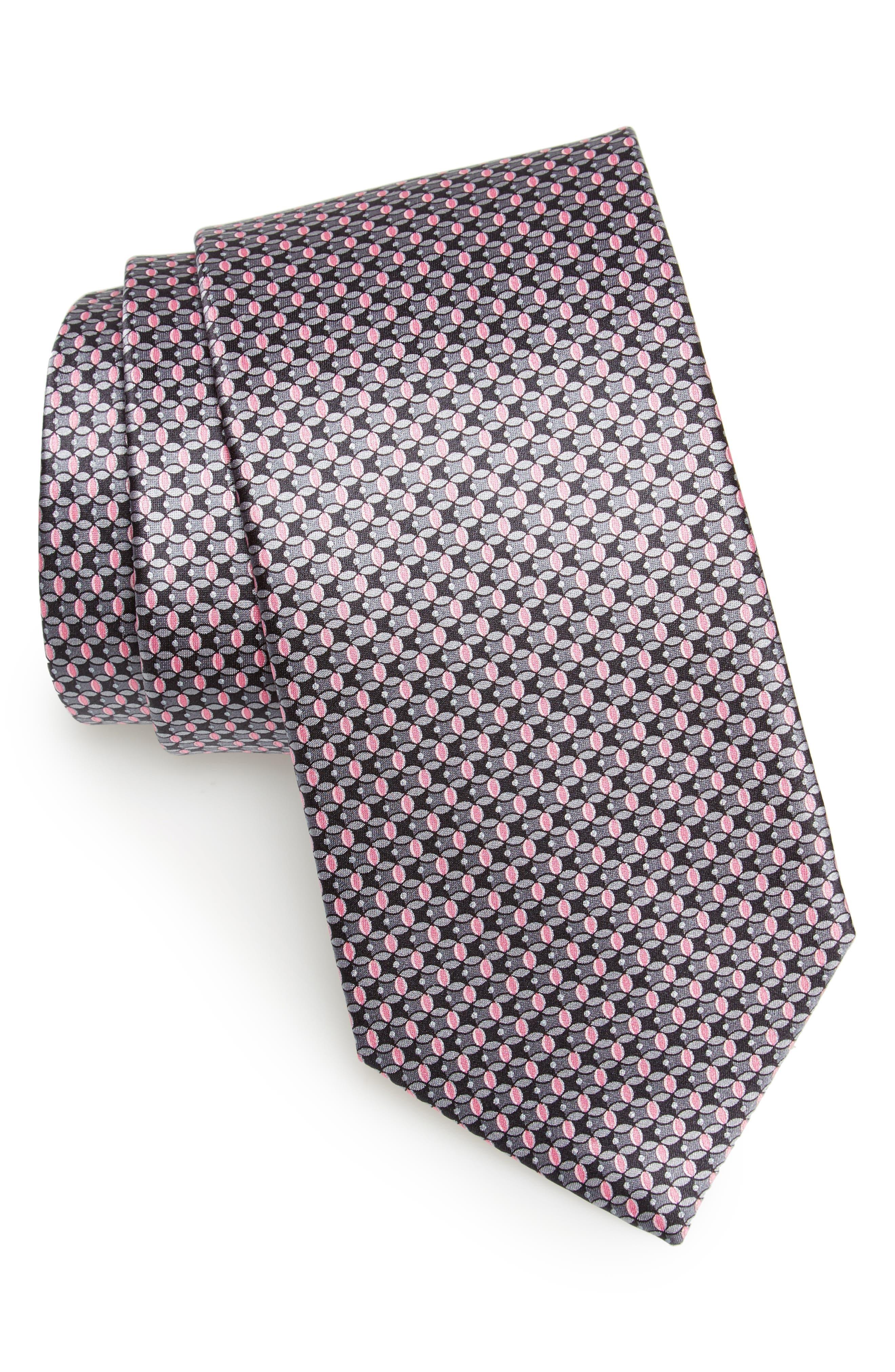 Alternate Image 1 Selected - Canali Geometric Silk Tie
