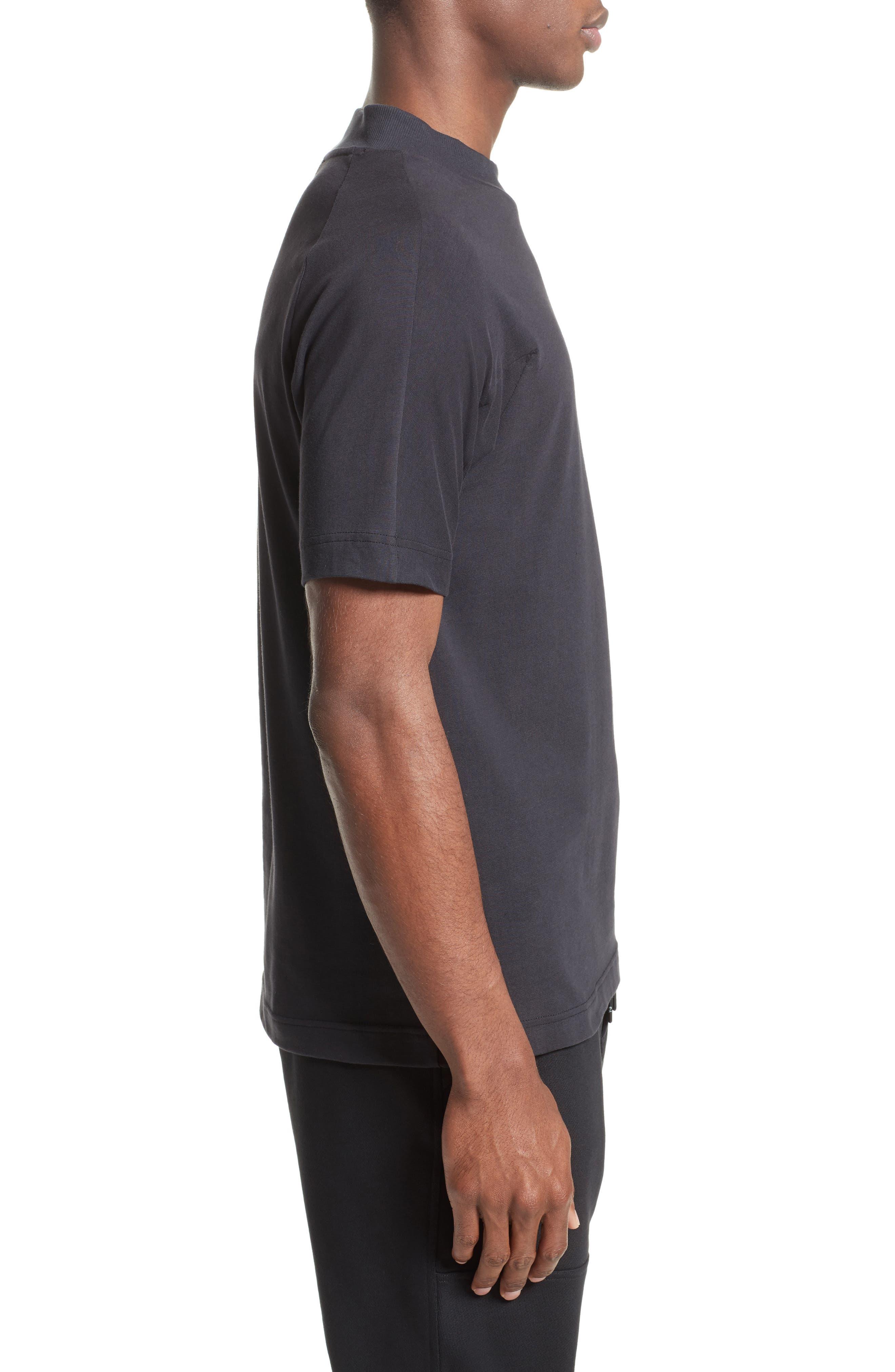 Embossed Logo T-Shirt,                             Alternate thumbnail 3, color,                             Black
